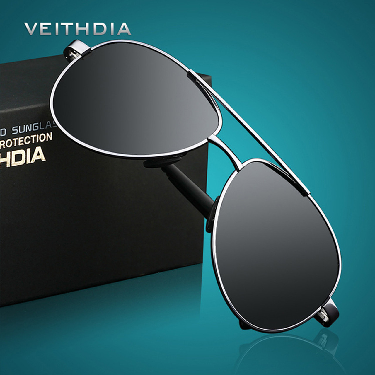 51dcf916431 VEITHDIA Men s Sunglasses Brand Designer Pilot Polarized Male Sun Glasses  Eyeglasses gafas oculos de sol masculino ...