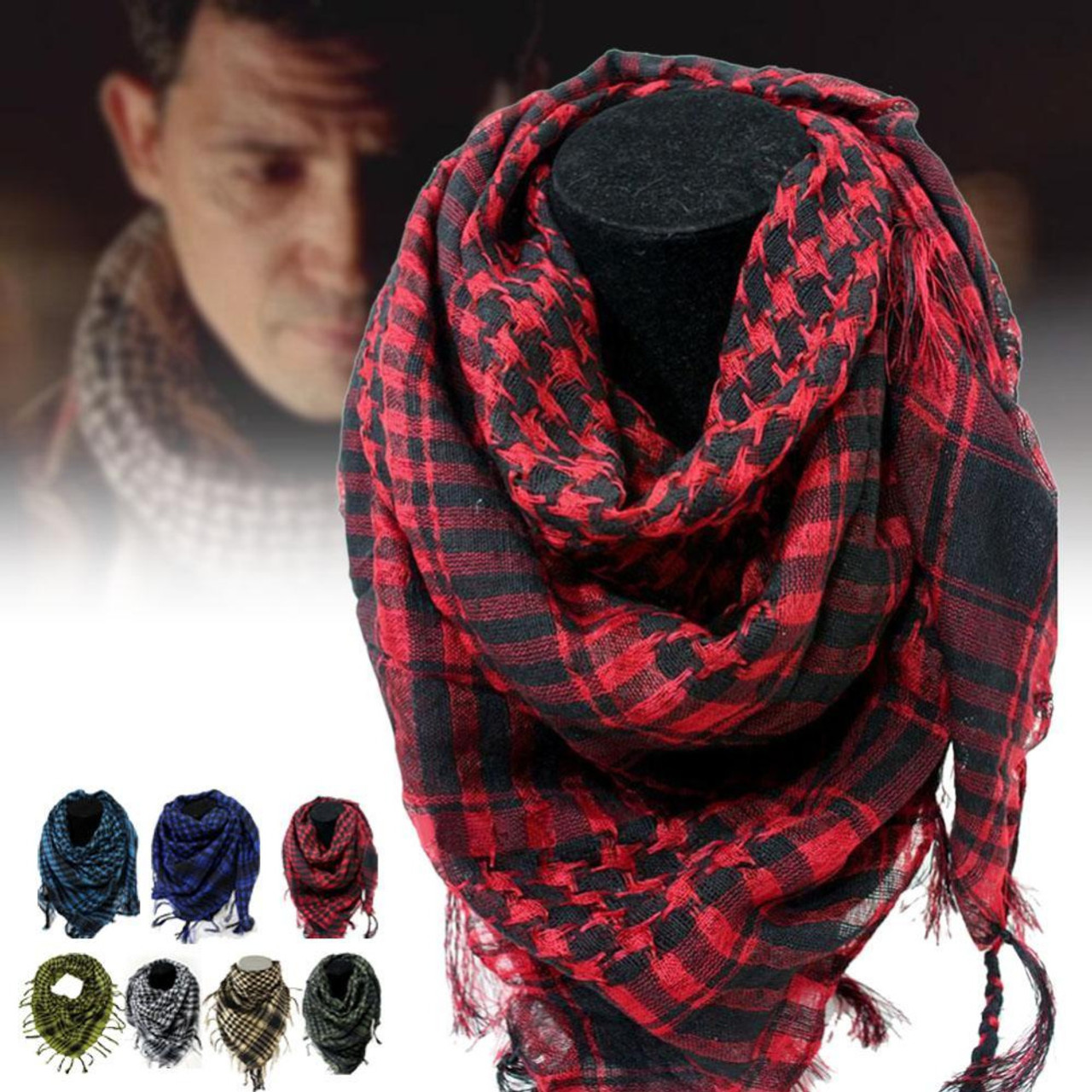 Best 100% Cotton Arab Scarves Thick Muslim Hijab Tactical Desert Men or  Women Winter Windy Military Windproof Scarf - OnshopDeals.Com 1400b83c4