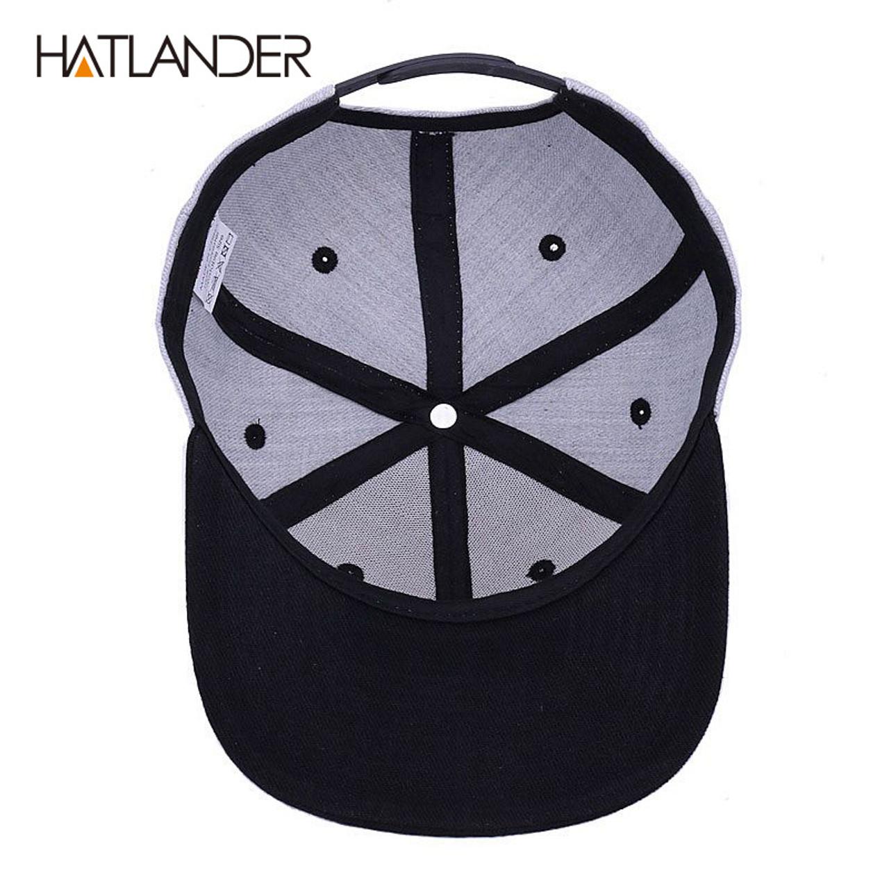 68e10d0deee ...  HATLANDER Original grey cool hip hop cap men women hats vintage  embroidery character baseball ...