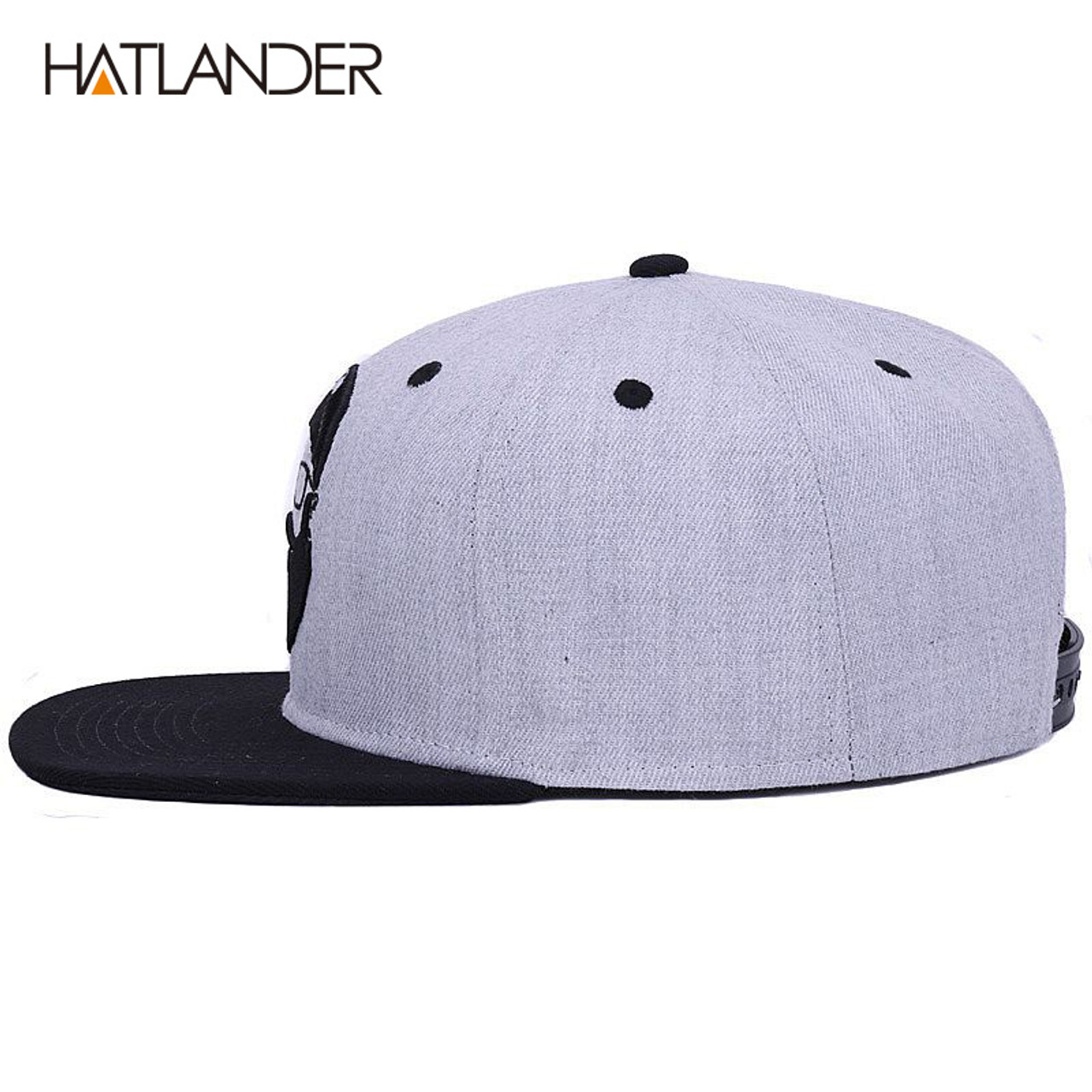 c67deb76ed895 ...  HATLANDER Original grey cool hip hop cap men women hats vintage  embroidery character baseball ...