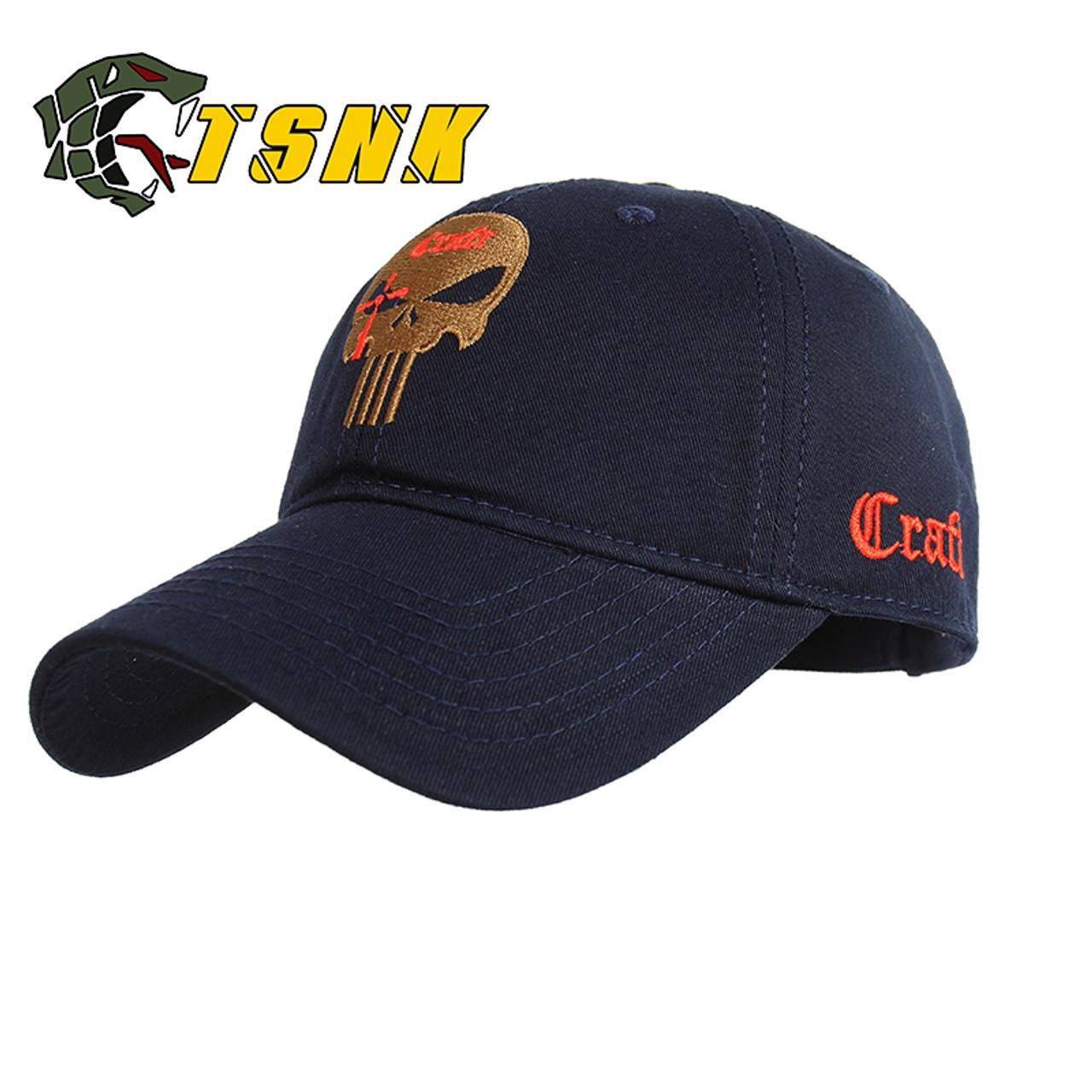 8d3eaf2122b ... TSNK Cotton Baseball Cap branded women men Tactical army caps Seals  Punisher American Sniper baseball hat ...