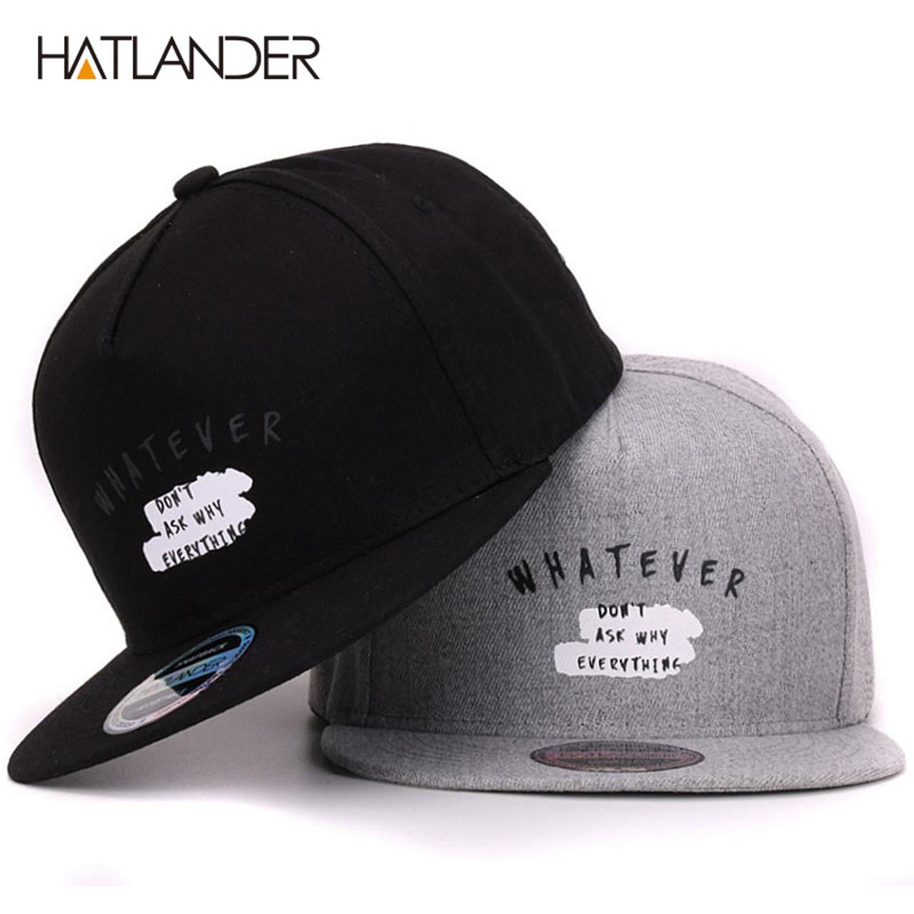 2463500706b  HATLANDER Solid Letter cotton baseball caps for men women outdoor sports  hats 5panel hip hop cap casquette planas snapbacks cap - OnshopDeals.Com