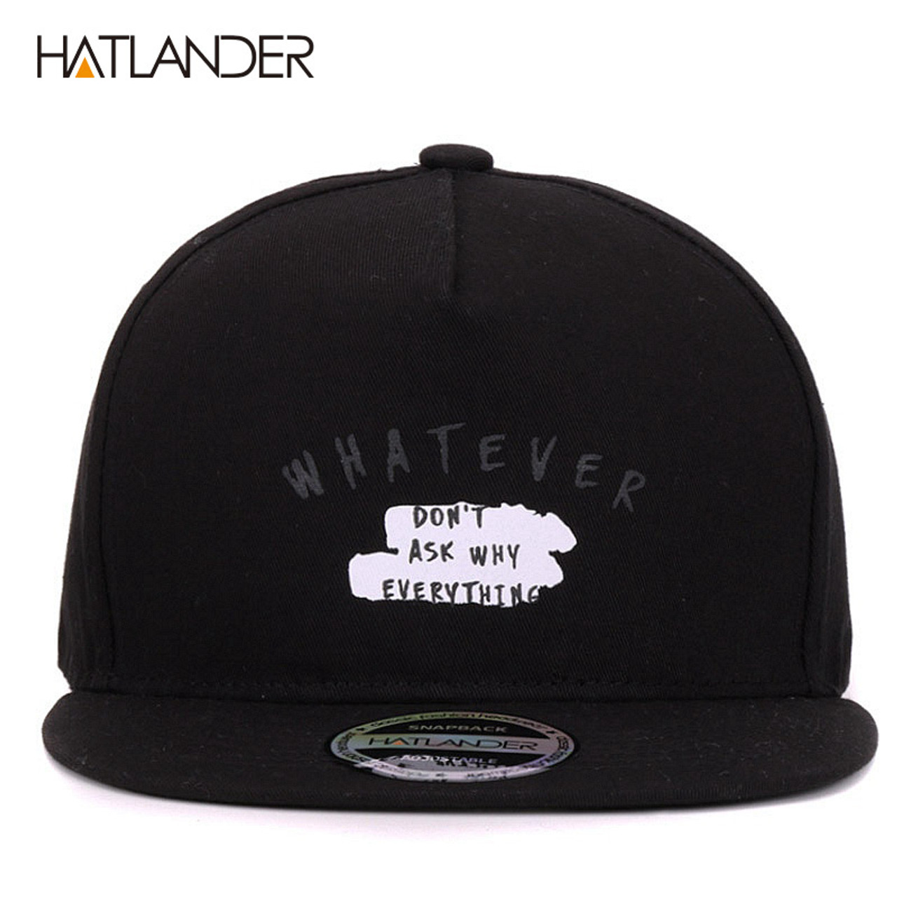 1417e71b4c1 ...  HATLANDER Solid Letter cotton baseball caps for men women outdoor  sports hats 5panel hip ...