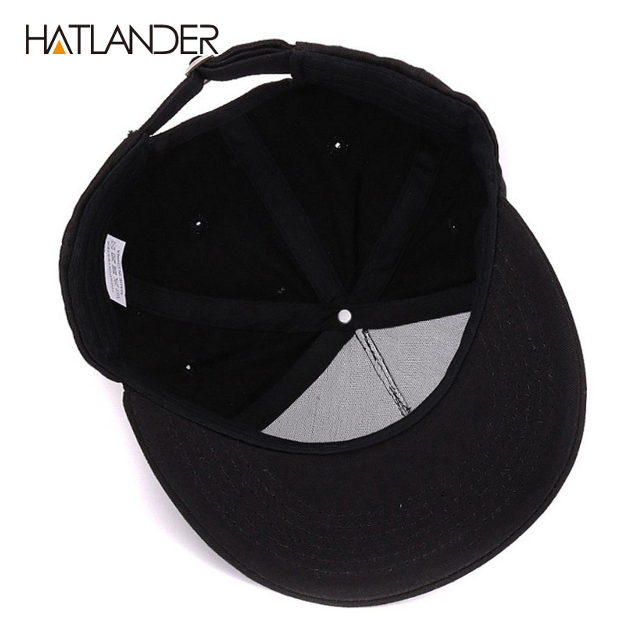 dc16cb314d7 ...  HATLANDER Solid Letter cotton baseball caps for men women outdoor  sports hats 5panel hip ...