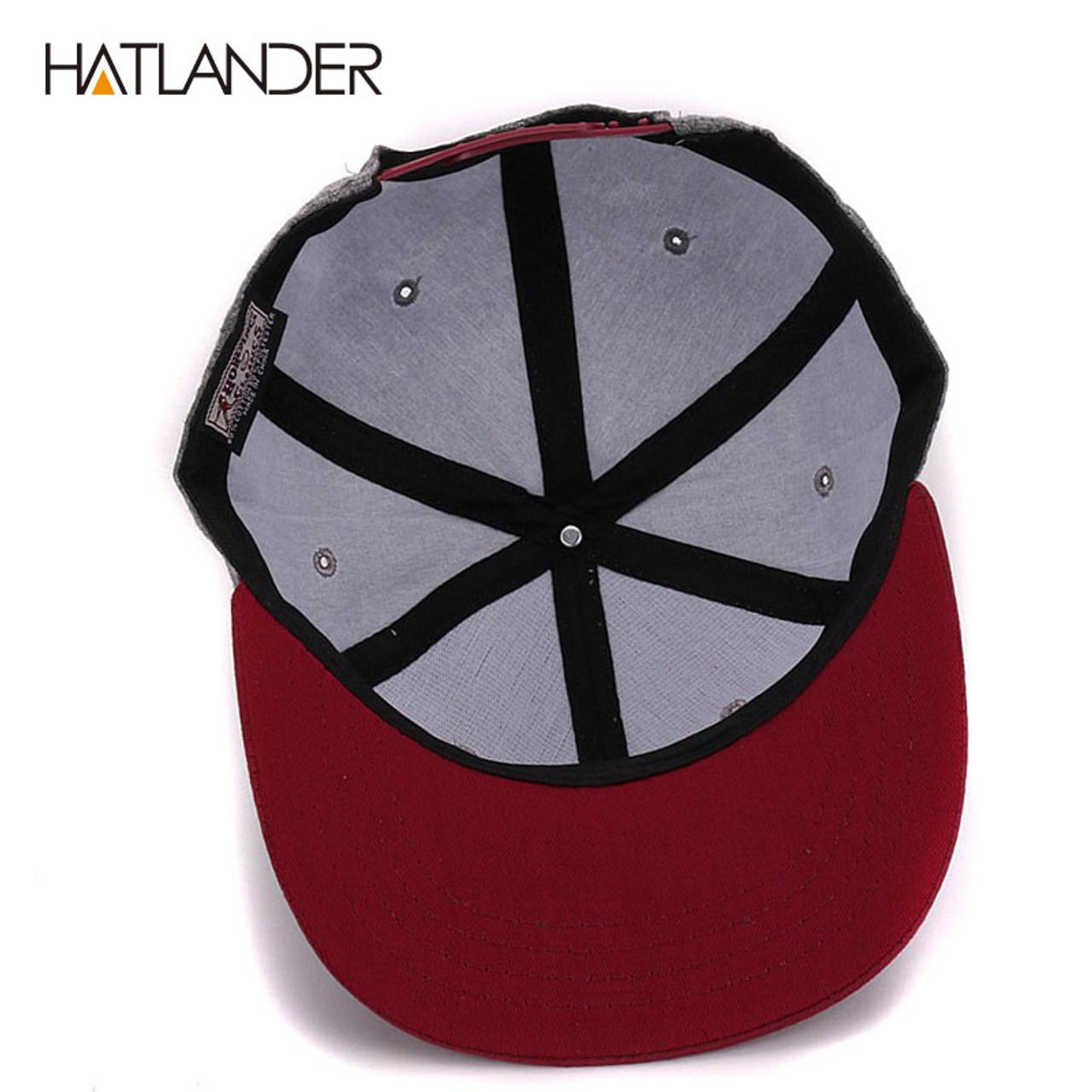 77da70d494eac ... HATLANDER branded adjustable baseball caps women Kpop hip hop cap  outdoor flat brim mens hats gorras ...