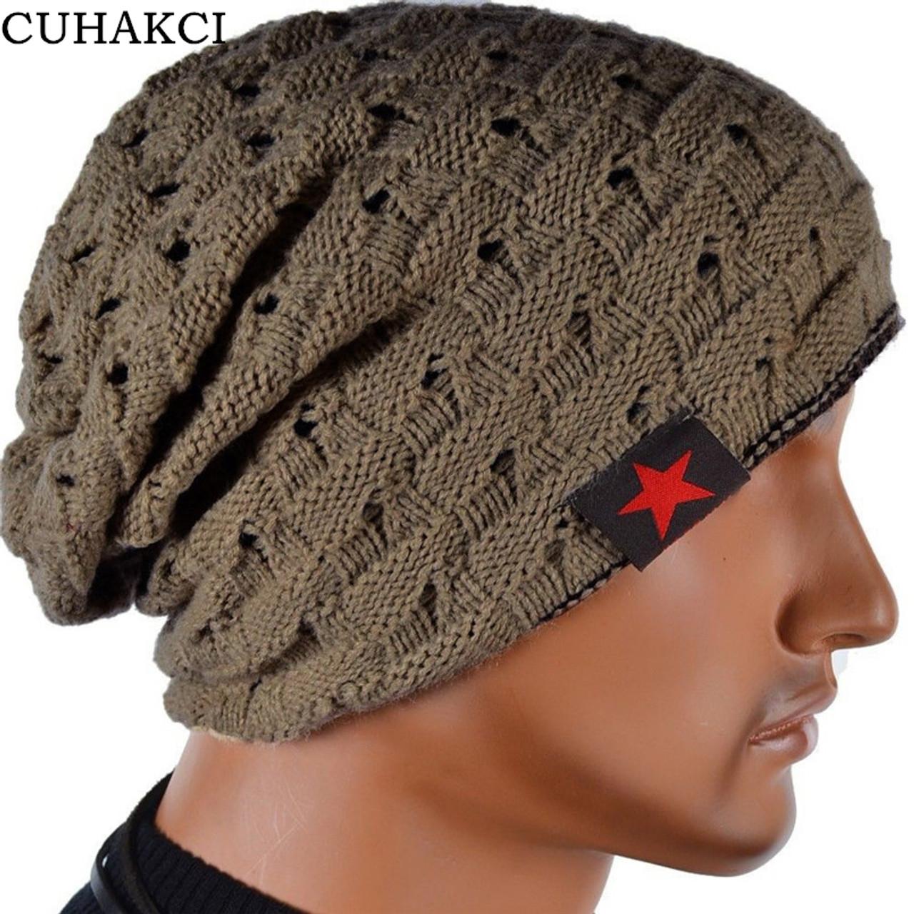Winter Warm New Fashion For Men Skull Chunky Women Knit Beanie Reversible  Baggy Snow Cap Warm Unisex Hat 8 Colors M003 - OnshopDeals.Com 66e2e67db61