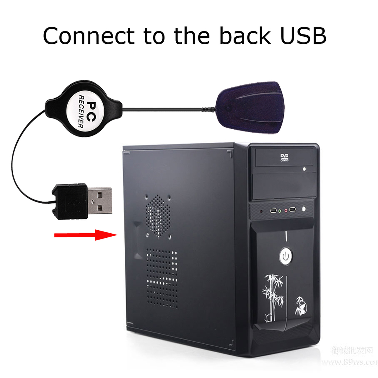 Wireless Mouse Remote Control Controller USB Receiver IR Remote Control for  Loptop PC Computer Center Windows 7 8 10 Xp Vista