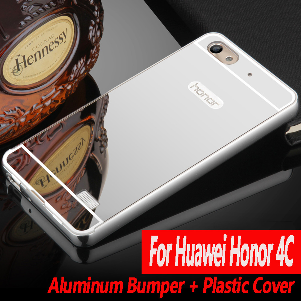 san francisco 56840 dec66 Luxury For Huawei Honor 4C Case c8818D Cover Mirror Aluminum Bumper Metal  Acrylic Back Cover For Huawei G Play Mini Phone Cases