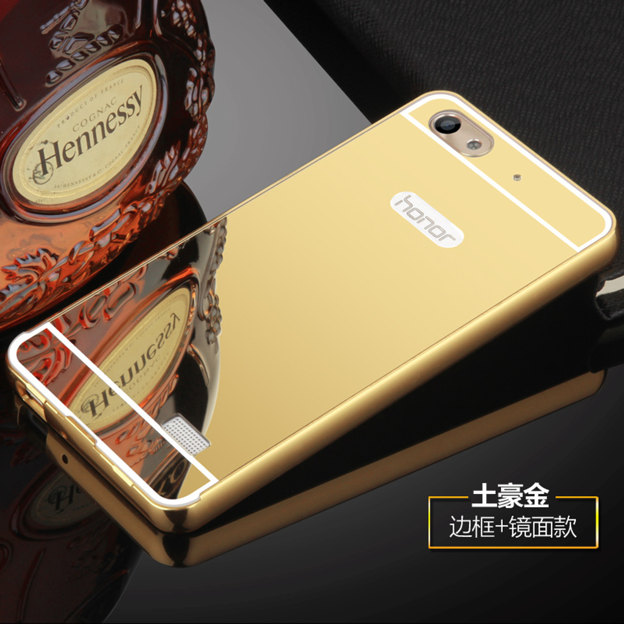 san francisco 7f34d 6dcff Luxury For Huawei Honor 4C Case c8818D Cover Mirror Aluminum Bumper Metal  Acrylic Back Cover For Huawei G Play Mini Phone Cases