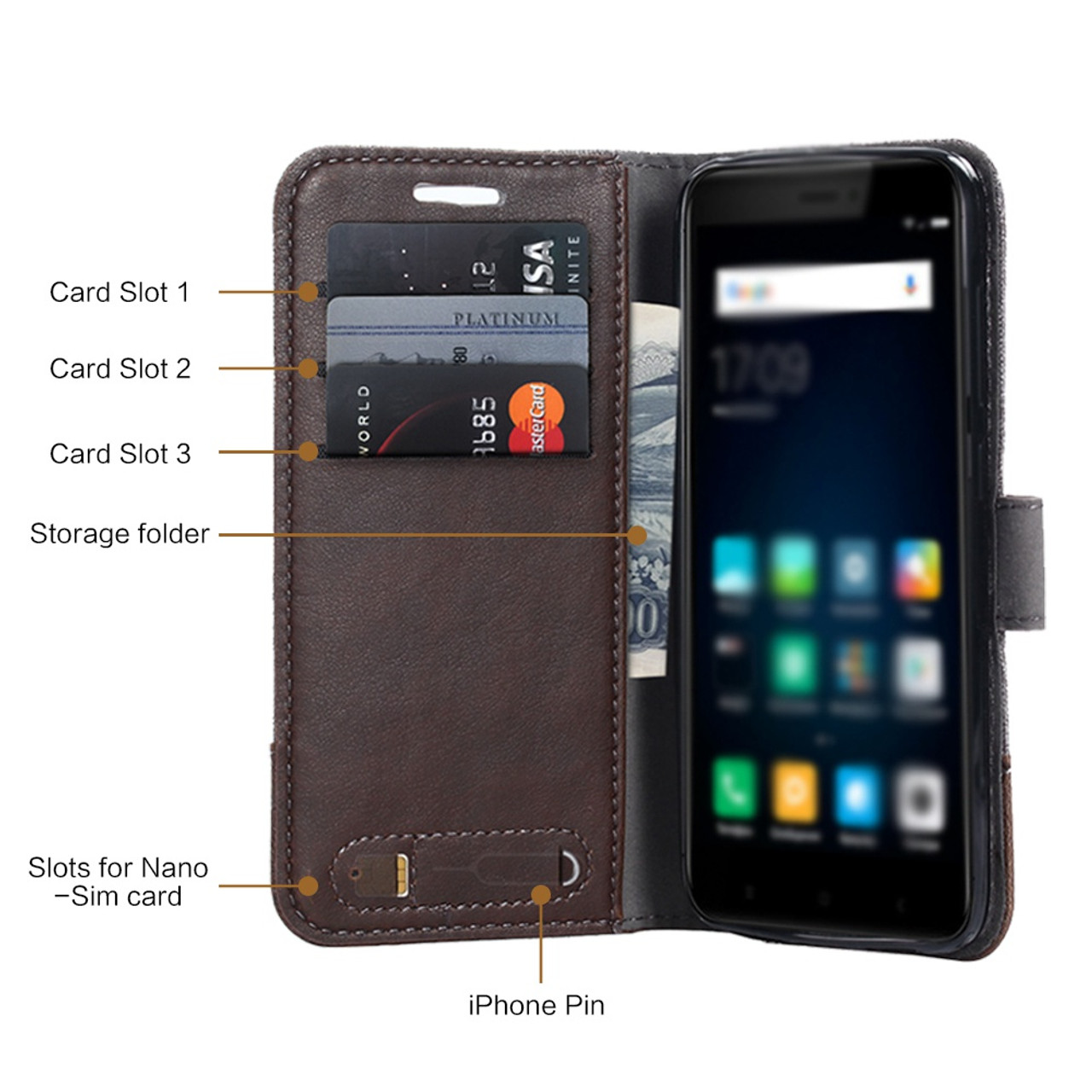3fbe5d464c6 ... UTOPER Case For Huawei Honor 6C Pro Case Business British style Leather  Cover For Huawei Honor ...
