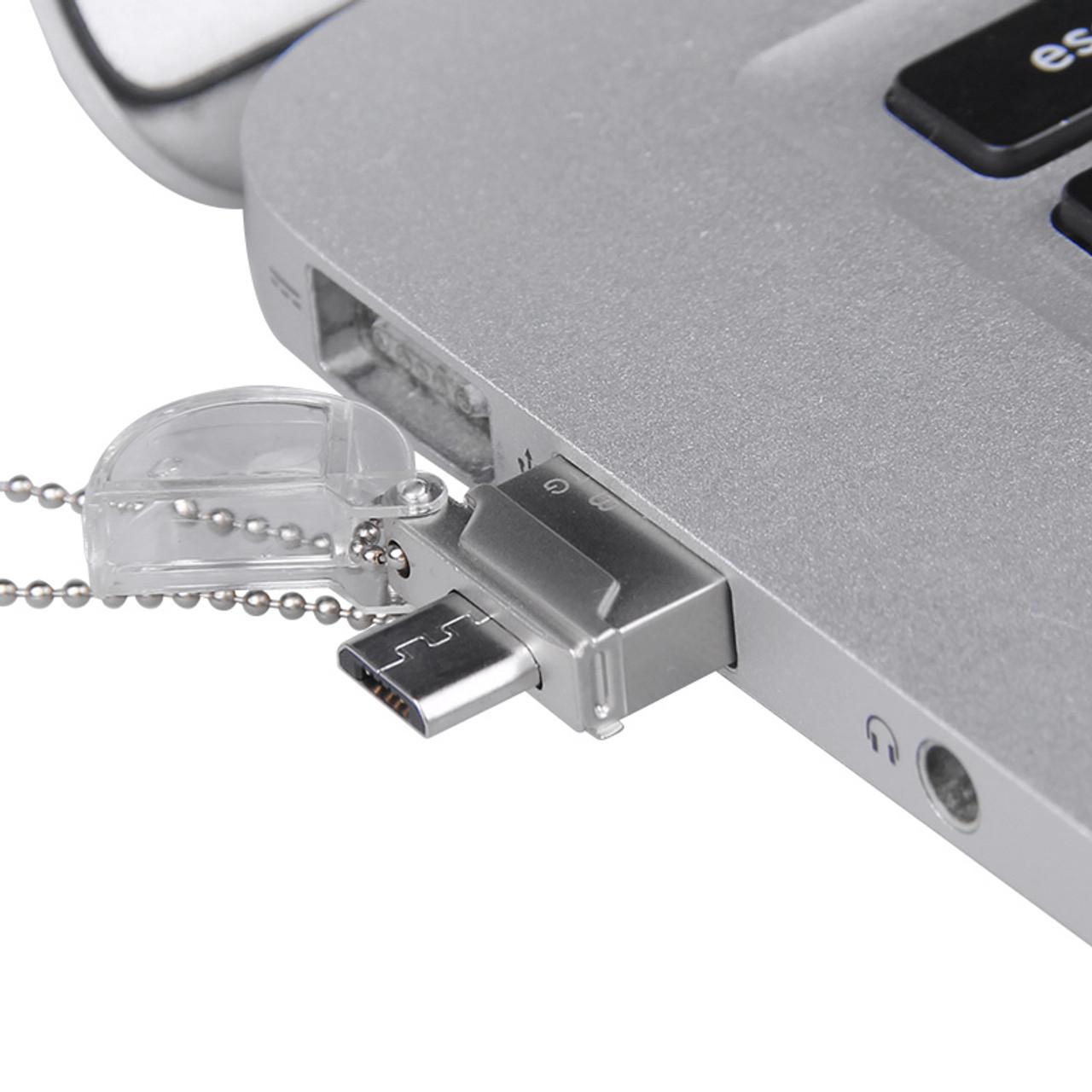 DM PD008 OTG USB 16GB USB Flash Drives OTG Pen Drive Micro USB Metal USB Stick