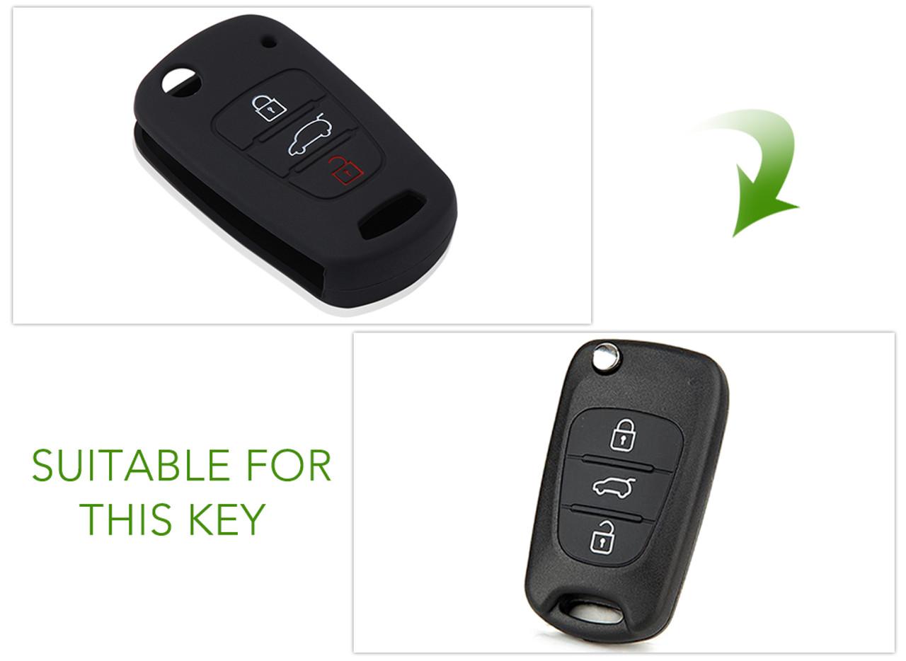 Silicone 3 Button Remote Flip Key Case Fob Cover For Kia Sportage Soul Rio