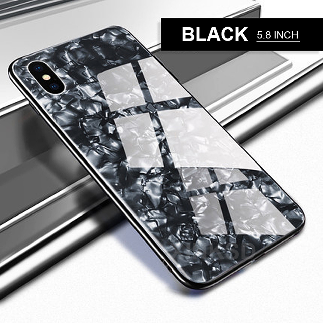 21455021b045b9 ... Luxury Tempered Glass Case For iPhone X 6 7 8 case Explosion-proof  Marble pattern ...