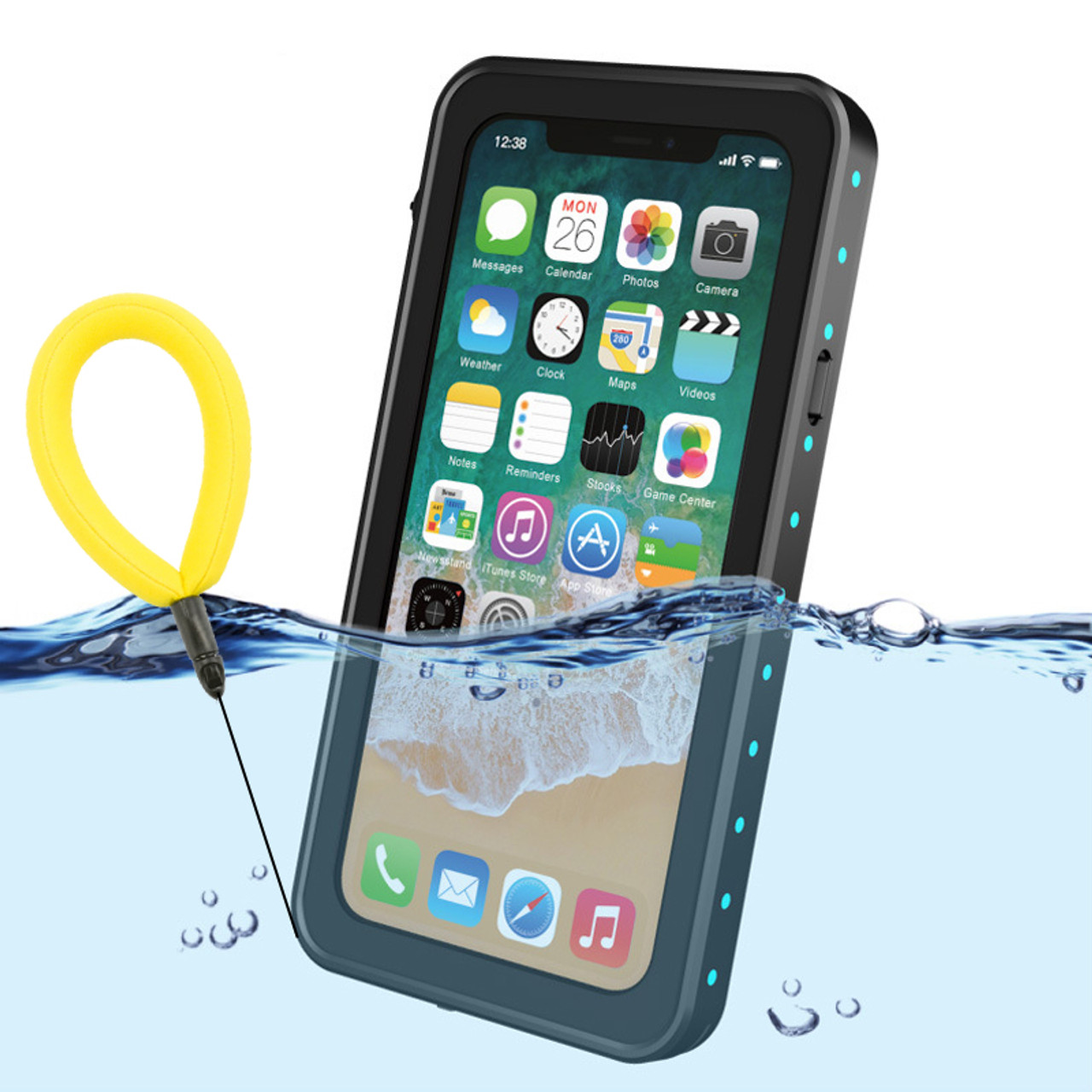 timeless design c41cc 7bf83 100% Waterproof Case for Dot iPhone X Shockproof Swimming Diving Case Cover  for iPhoneX Outdoor Underwater Protective Case Coque