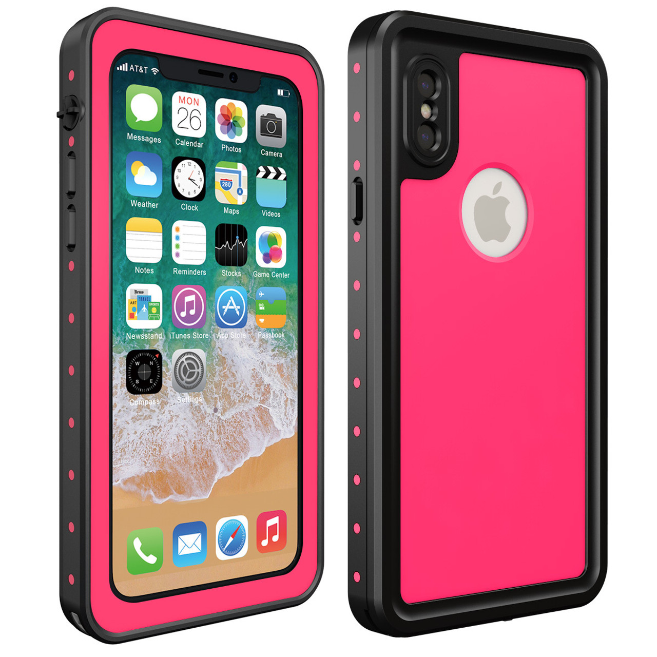 timeless design 092b1 daf3c 100% Waterproof Case for Dot iPhone X Shockproof Swimming Diving Case Cover  for iPhoneX Outdoor Underwater Protective Case Coque