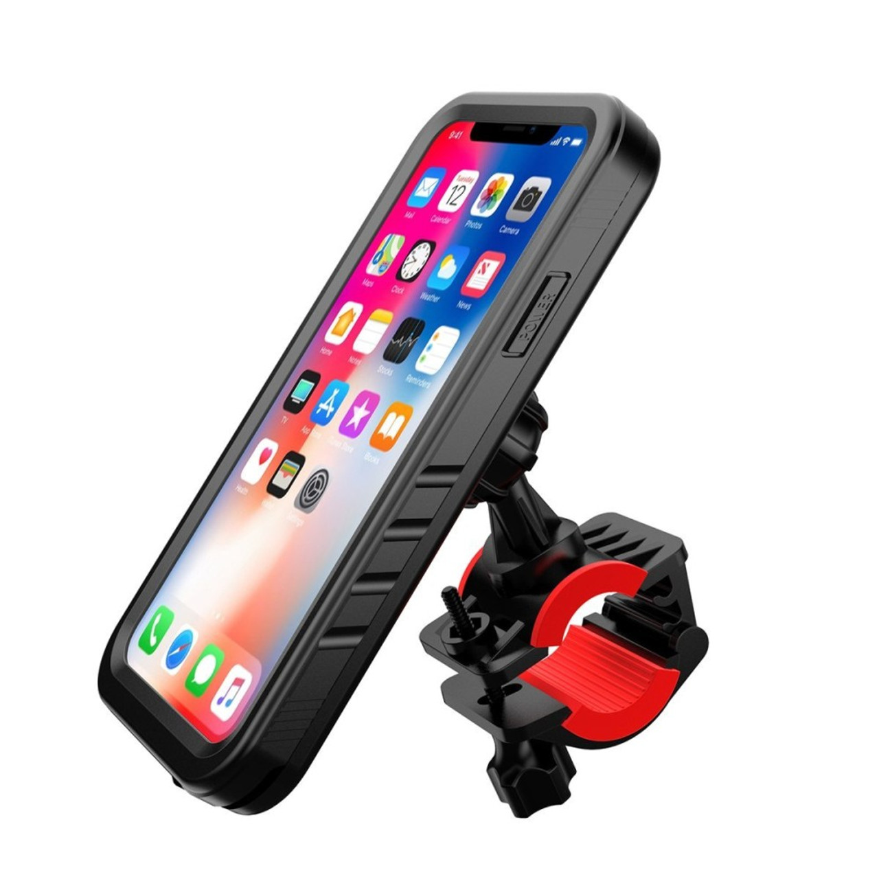 free shipping e8ebc 3b919 Bike Mount for iPhone X / 10 Waterproof Case,Bicyle Motorcycle Handlebars  Cradles Phone Holder with Full Body Protective Cover