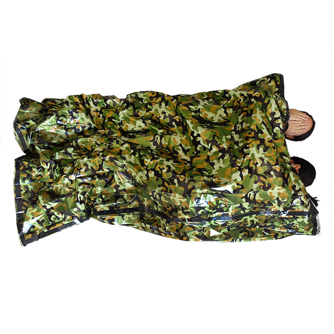 lowest price d3784 d804e Camouflage Survival Emergency Sleeping Bag Thermal Keep Warm Waterproof  Mylar Double First Aid Emergency Blanket Outdoor Camping
