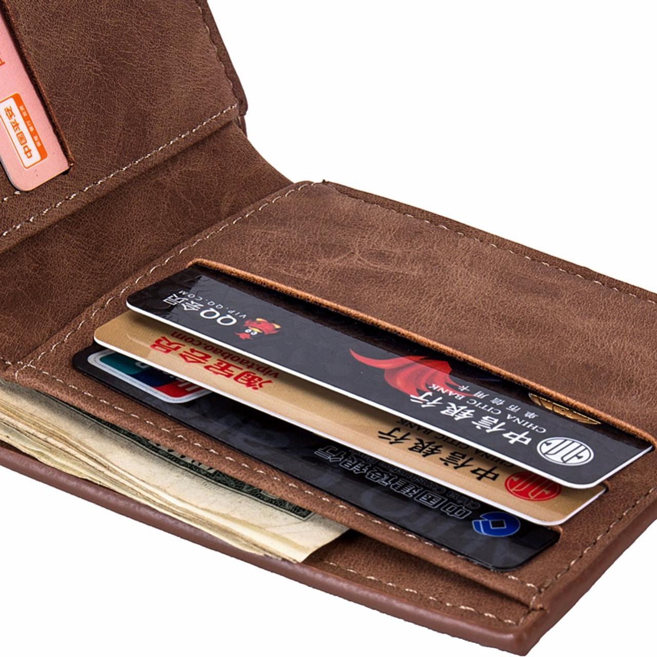 f3c8385daf Men Wallets Top Pu Leather Vintage Design Purse Men Brand Famous Card  holder Mens Wallet carteira masculina Wholesale price
