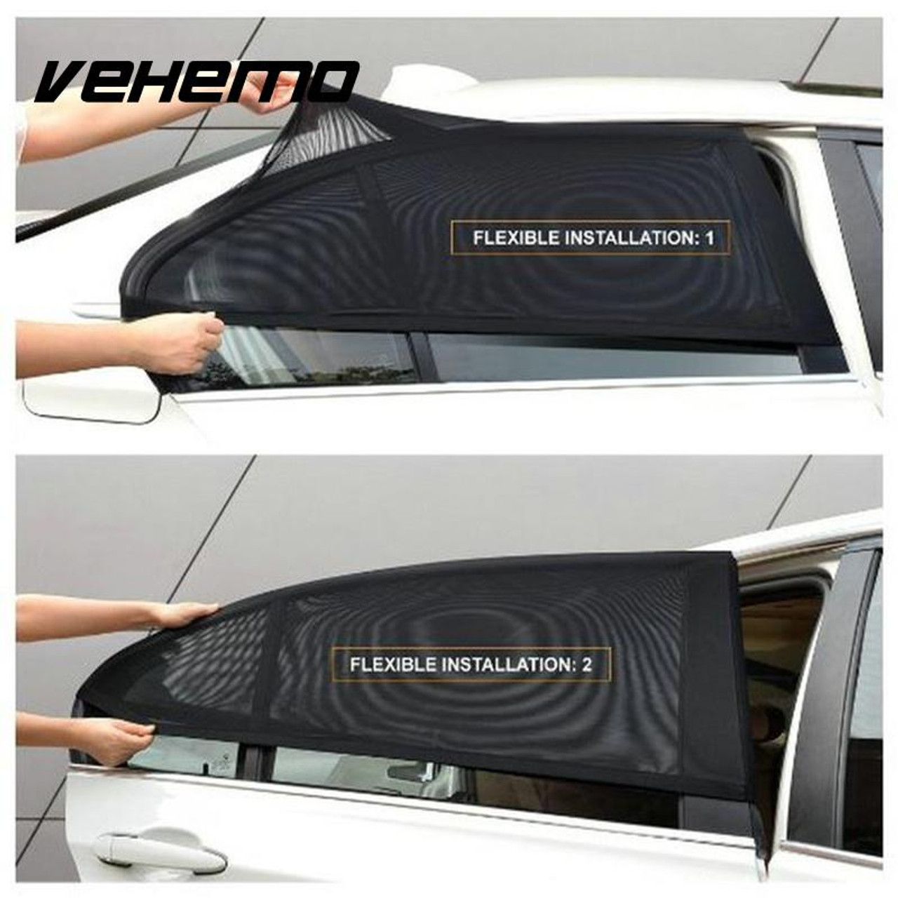 2Pcs Car Window Cover Sunshade Curtain UV Protection Shield Sun Shade Visor  Mesh Solar Mosquito Dust Protection Car-covers New - OnshopDeals.Com b029c6cce772