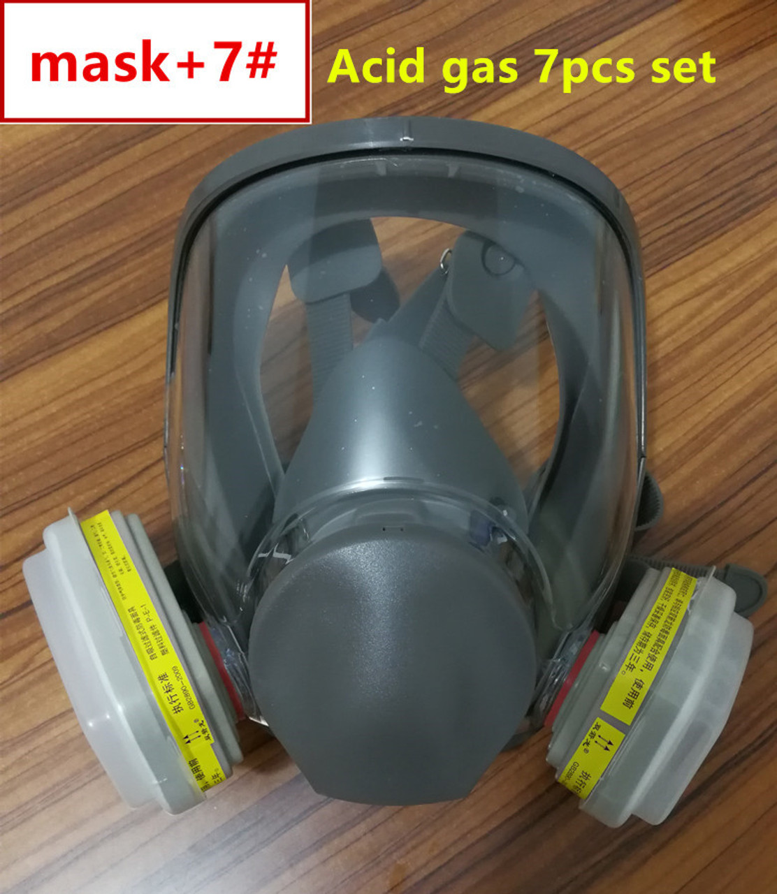Party Masks 7 Piece Full Face Mask For 6800 Gas Mask Full Face Facepiece Respirator For Painting Spraying Free Shipping Festive & Party Supplies
