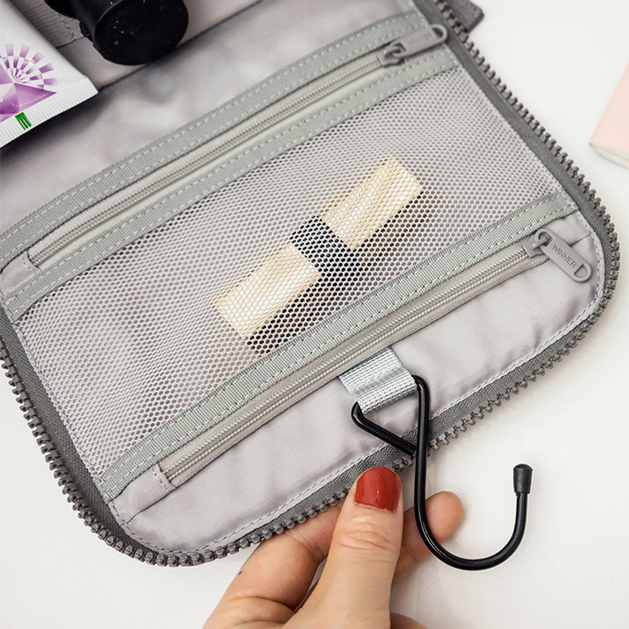 4960fc3533d3 ... Samplaner Waterproof Cosmetic Bags for Men Women Travel Makeup Bags  Washing Toiletry Kits Solid Storage Bag ...