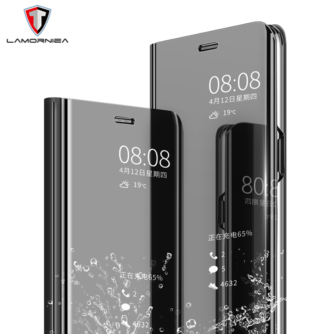 finest selection 6ac03 4cdbb Mirror Case For Xiaomi Mi Mix 2 Luxury Flip Stand Cover For RedMi 5  Plus/Note 5A /Mi 5X A1/Mi Note 3/RedMi 4X/RedMi Note 4X 5 5C