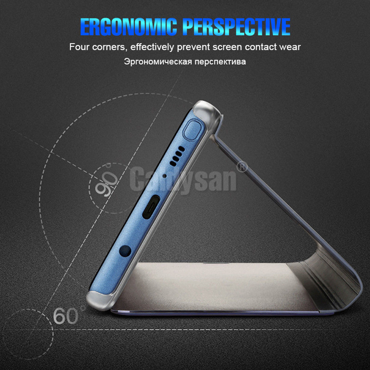 outlet store 3f164 7f7cd Luxury Mirror Flip Case For Huawei P20 Pro P20 Mate 10 Lite Full Cover For  Huawei P20 Lite Mate 10 Pro Plating Shockproof Case