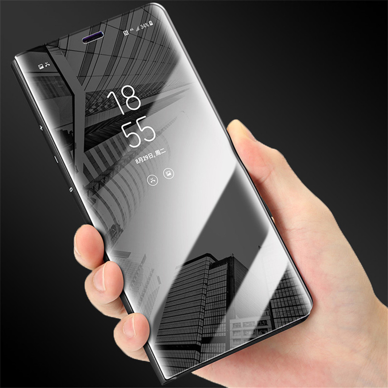 225721d4e4e Mirror Flip Case For Samsung Galaxy S9 Note 8 S6 S7 Edge S8 A8 2018 Plus ...