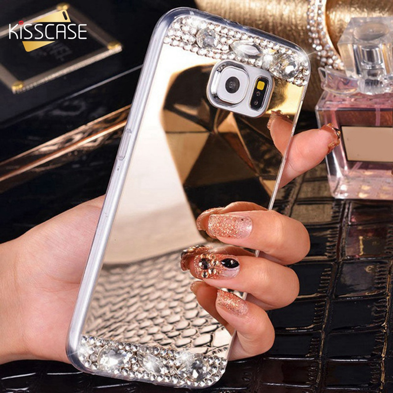 80390d643d5 KISSCASE Luxury Bling Diamond Case For Samsung Galaxy Note 8 S8 Plus S7 S6  Edge J7 ...
