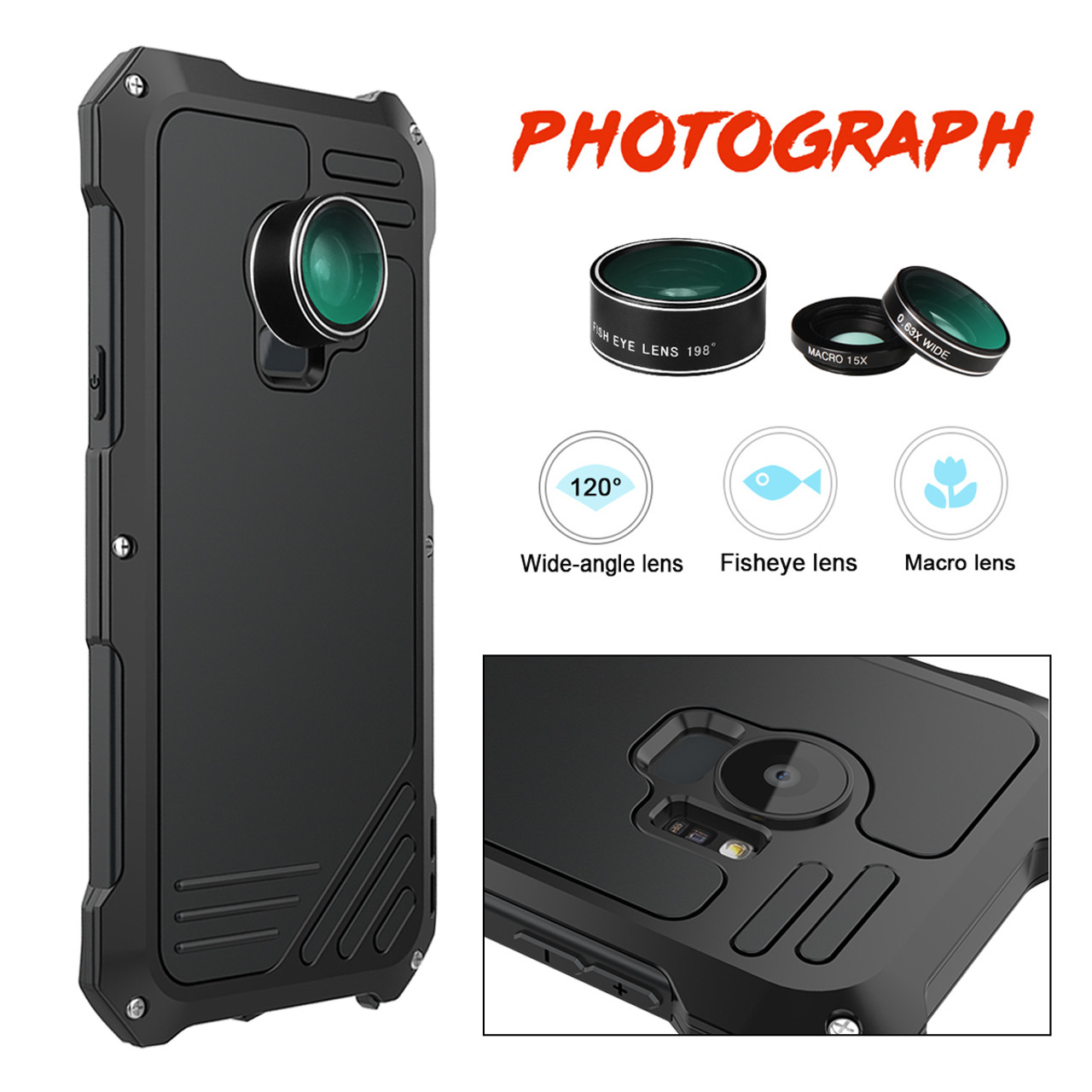 official photos 61cef 7d580 S9 Plus Case Flip Cover Metal Iron Armor for Samsung Galaxy S9 / S9 Plus  Case Phone 3 in 1 Camera Lens Luxury 360 Anti-knock
