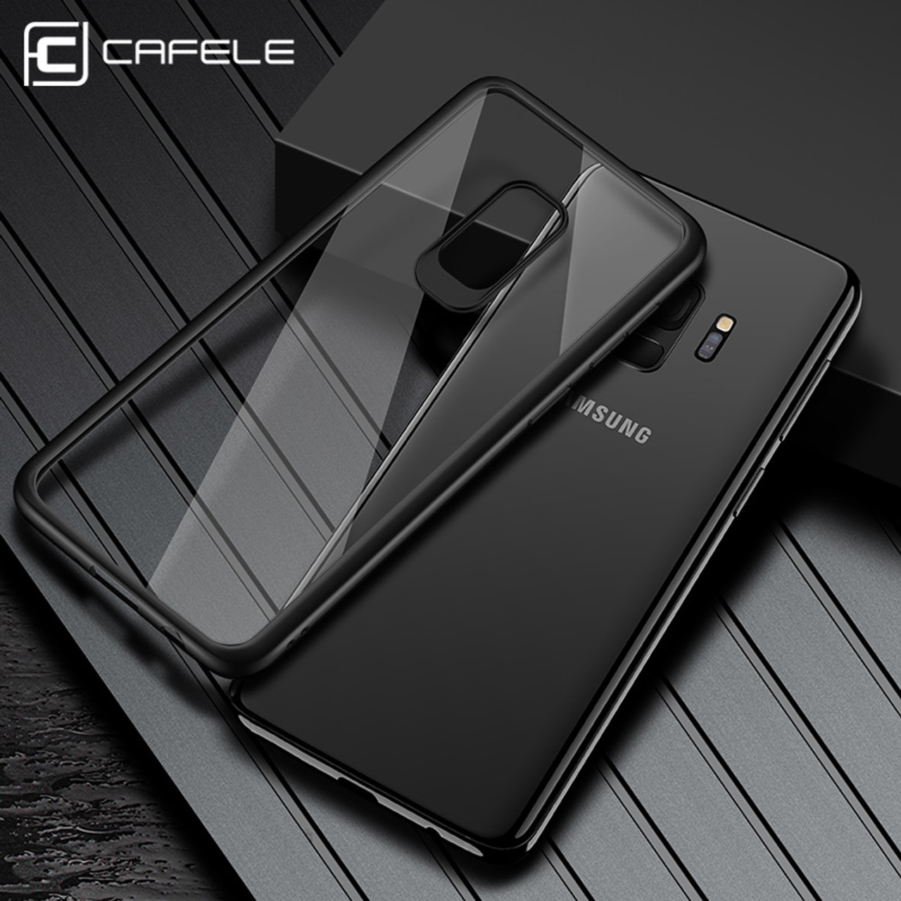 huge discount 54efc 51d63 CAFELE Case for Samsung galaxy s9 plus TPU+PC Fashion Luxury Transparent  Back Ultra thin Shockproof Cover for Samsung galaxy s9