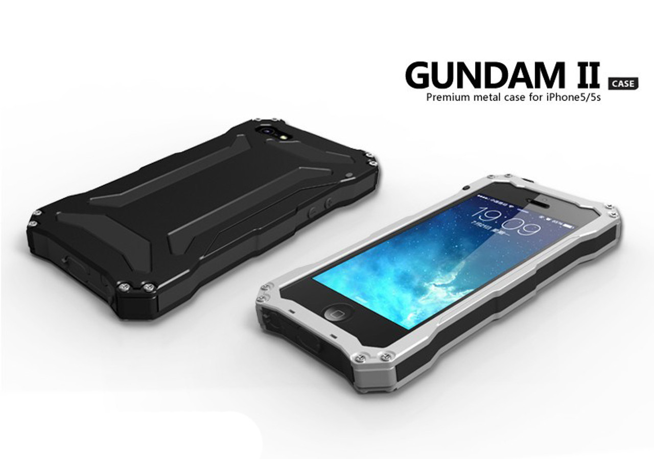 promo code ea2c4 57eda Luxury 5 5s WaterProof Gorilla Glass Metal Aluminum Case Cover For Apple  iPhone 5s For iPhone SE