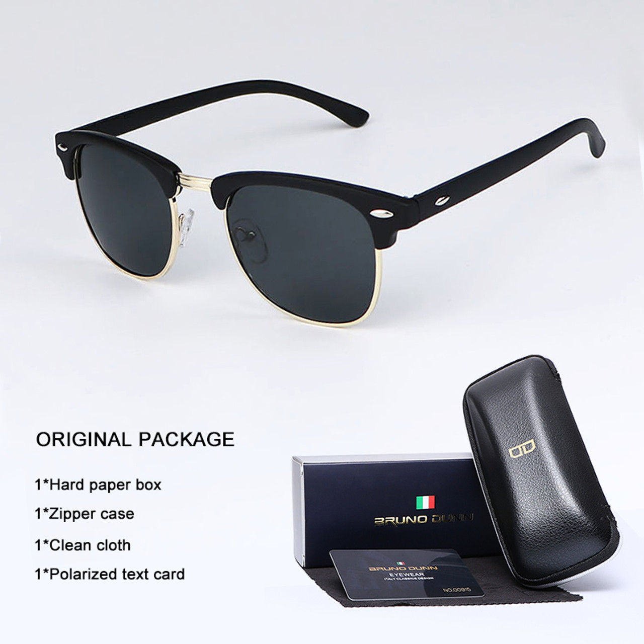 27e427a1fd57b Bruno Dunn Vintage Sunglasses Men Women polarized 2018 Brand Design Sun  Glasses for male Female Gafas lentes Oculos Lunette Ray - OnshopDeals.Com