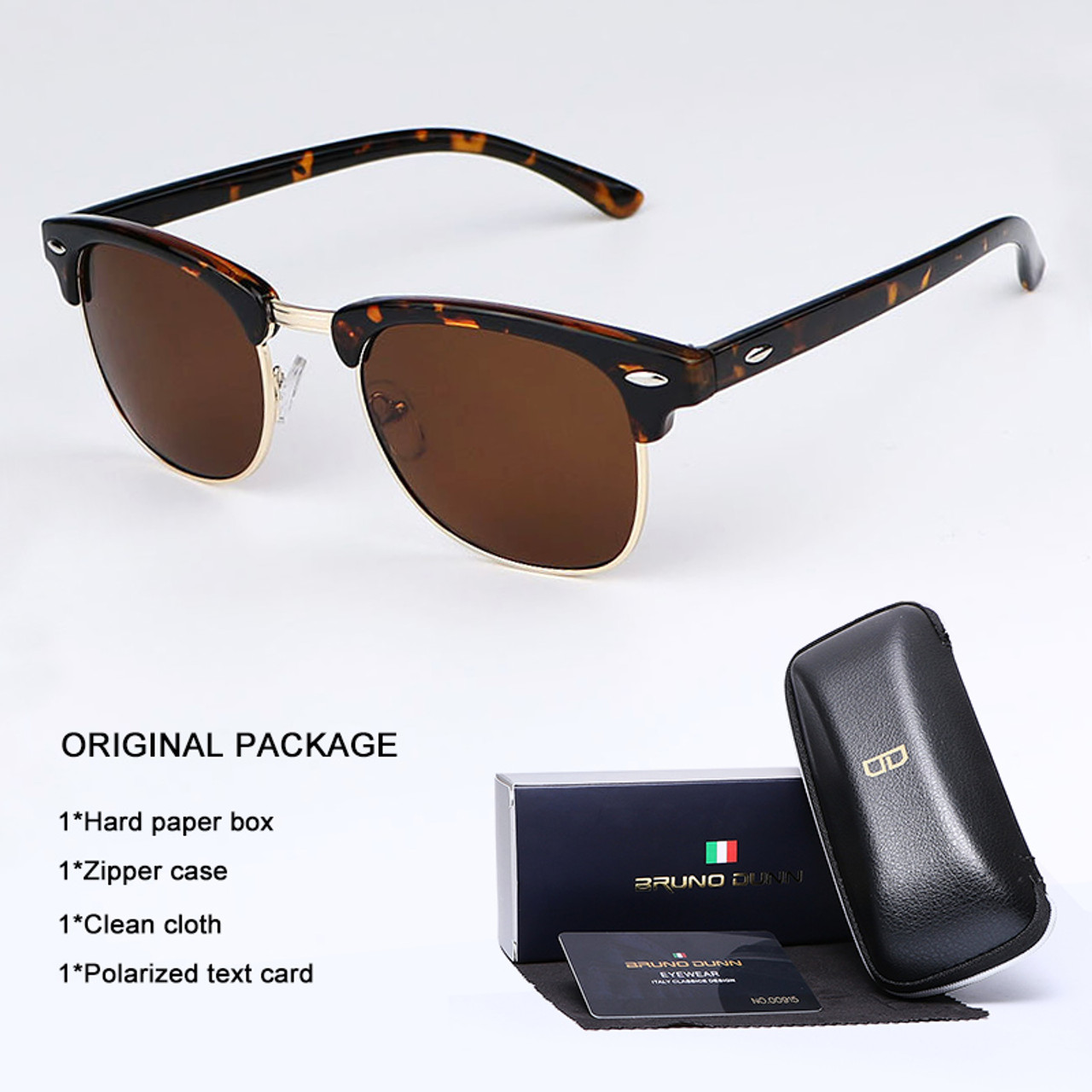 1e6d9072518 ... Bruno Dunn Vintage Sunglasses Men Women polarized 2018 Brand Design Sun  Glasses for male Female Gafas ...