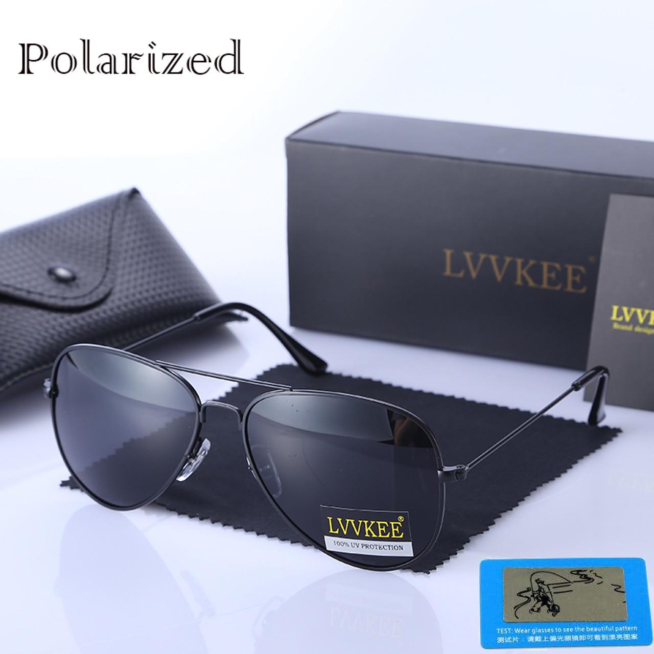 0df1099daf classic Brand Designer mens Aviator HD polarized sunglasses 3025 58mm lens  Pilot women sun glasses UV400 ...