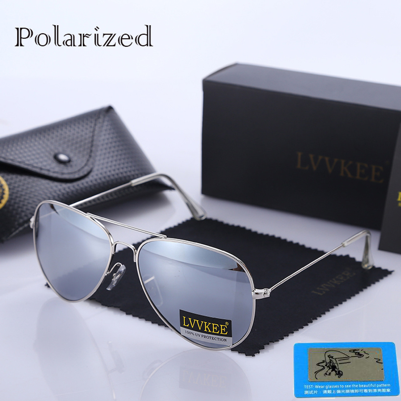 92ab942dcc LVVKEE Top quality G15 Polarized Aviator Sunglasses Men Women Classic Brand  Design driving Sun Glasses ...