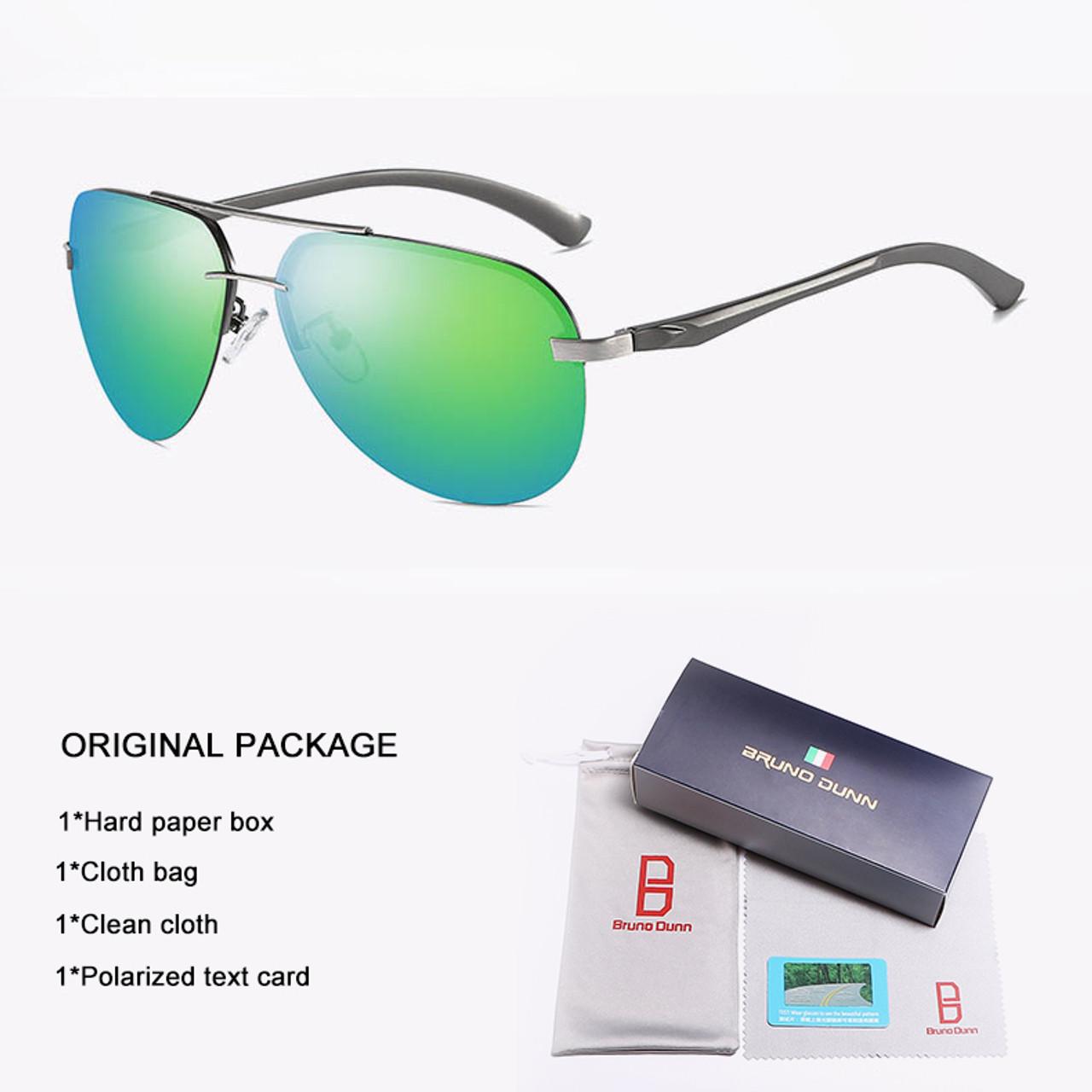 e3c6376716 ... Aluminum Aviator Unisex Retro Sunglasses Polarized Rimless Driving  Mirror Sun Glasses Oculos Aviador Lunette Ray for ...