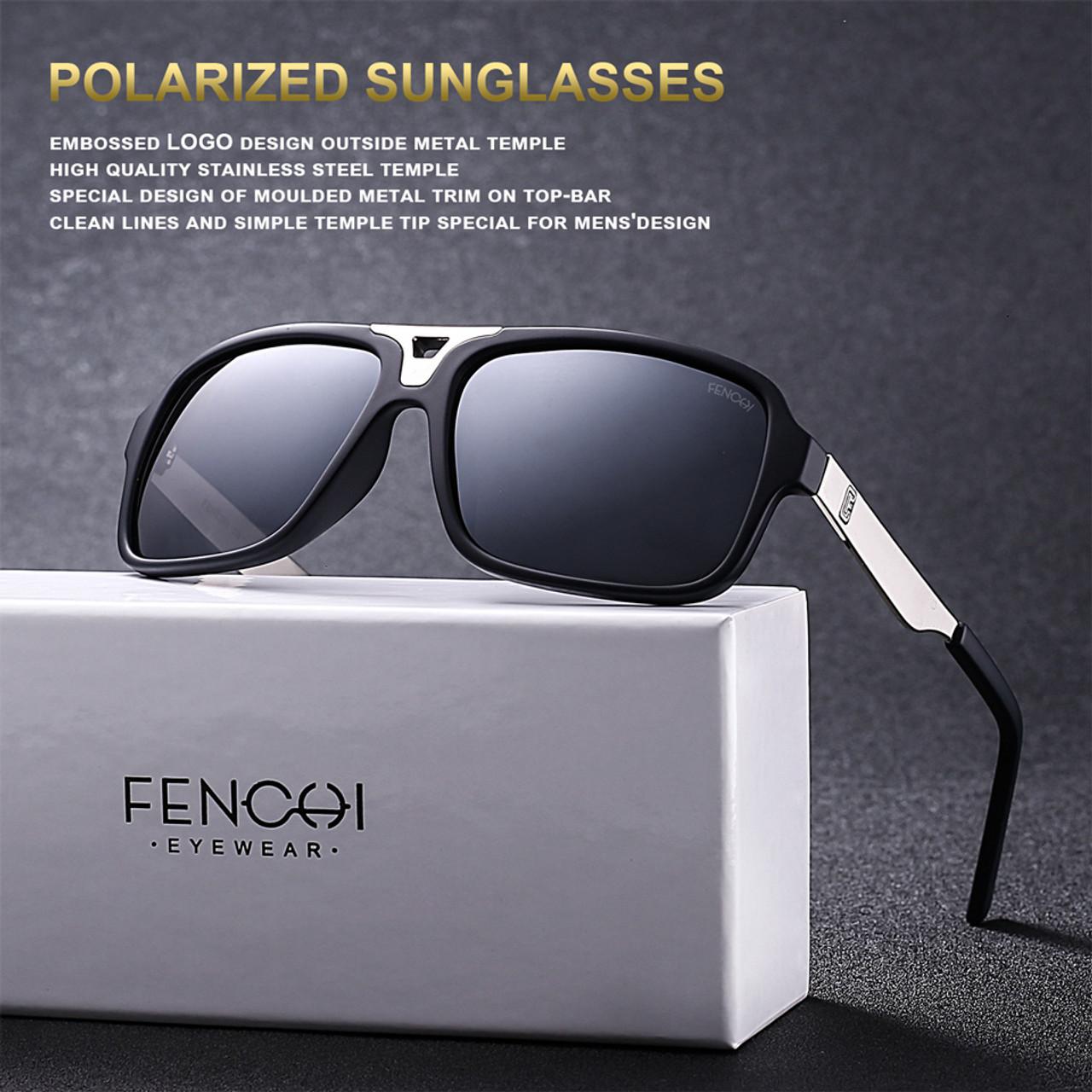 d20ddd6769e ... FENCHI Design Sunglasses Men Polarized Square Retro New Driving Vintage  Fashion Fishing Oculos De Sol Sun ...