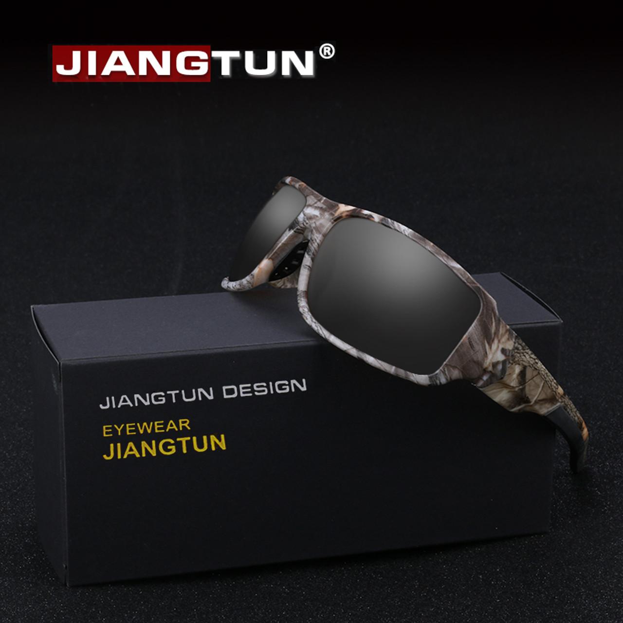 9e3a808e61 JIANGTUN 2018 Top Fashion Camo Black Polarized Sunglasses Men Cool Style  Quality Sun Glasses Anti- ...
