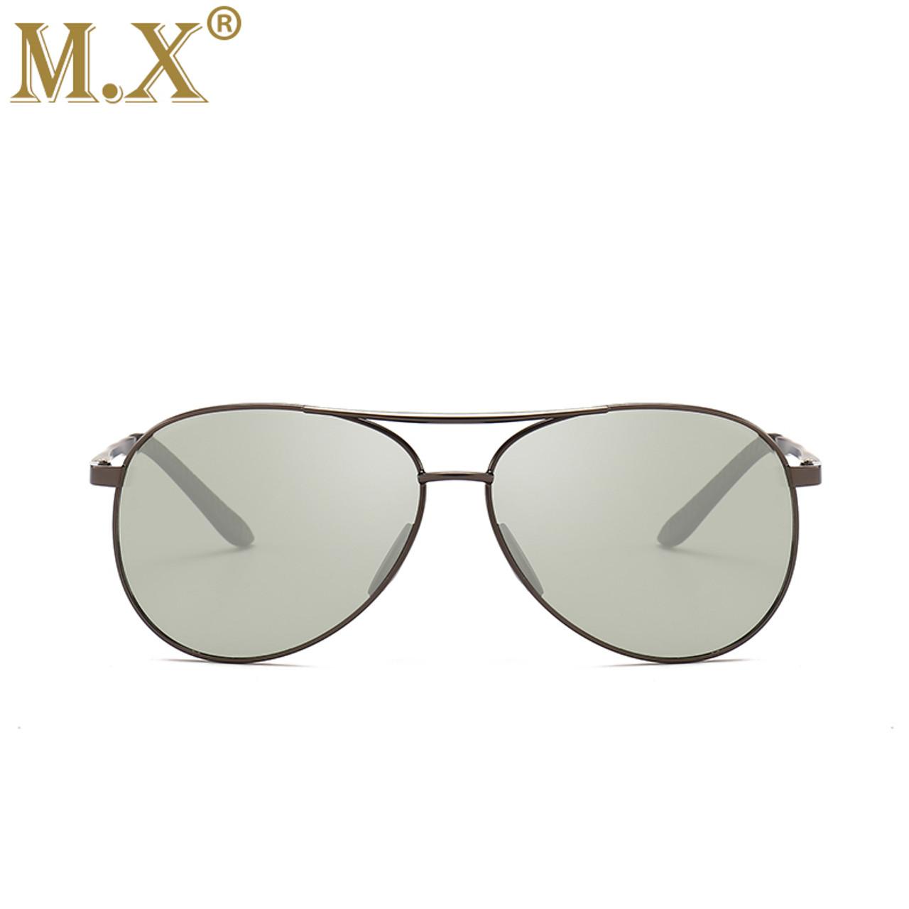 3bb7756350 ... 2018 Pilot Photochromic Sunglasses Men Driving Polarized Sun Glasses  Chameleon Driver Safety Night Vision Goggles Glasses ...