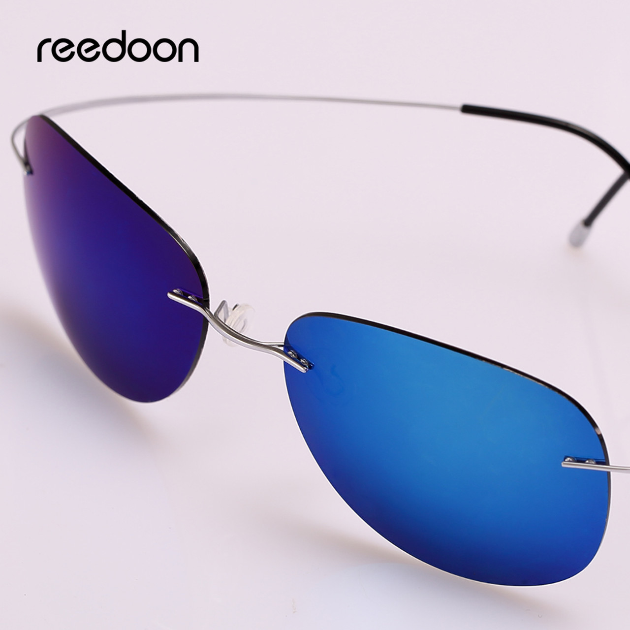 05f539fa55b Reedoon Sunglasses Polarized Mirrored UV400 Lens 90% Titanium Frame  Lightweight Sun Glasses 2018 For Men ...