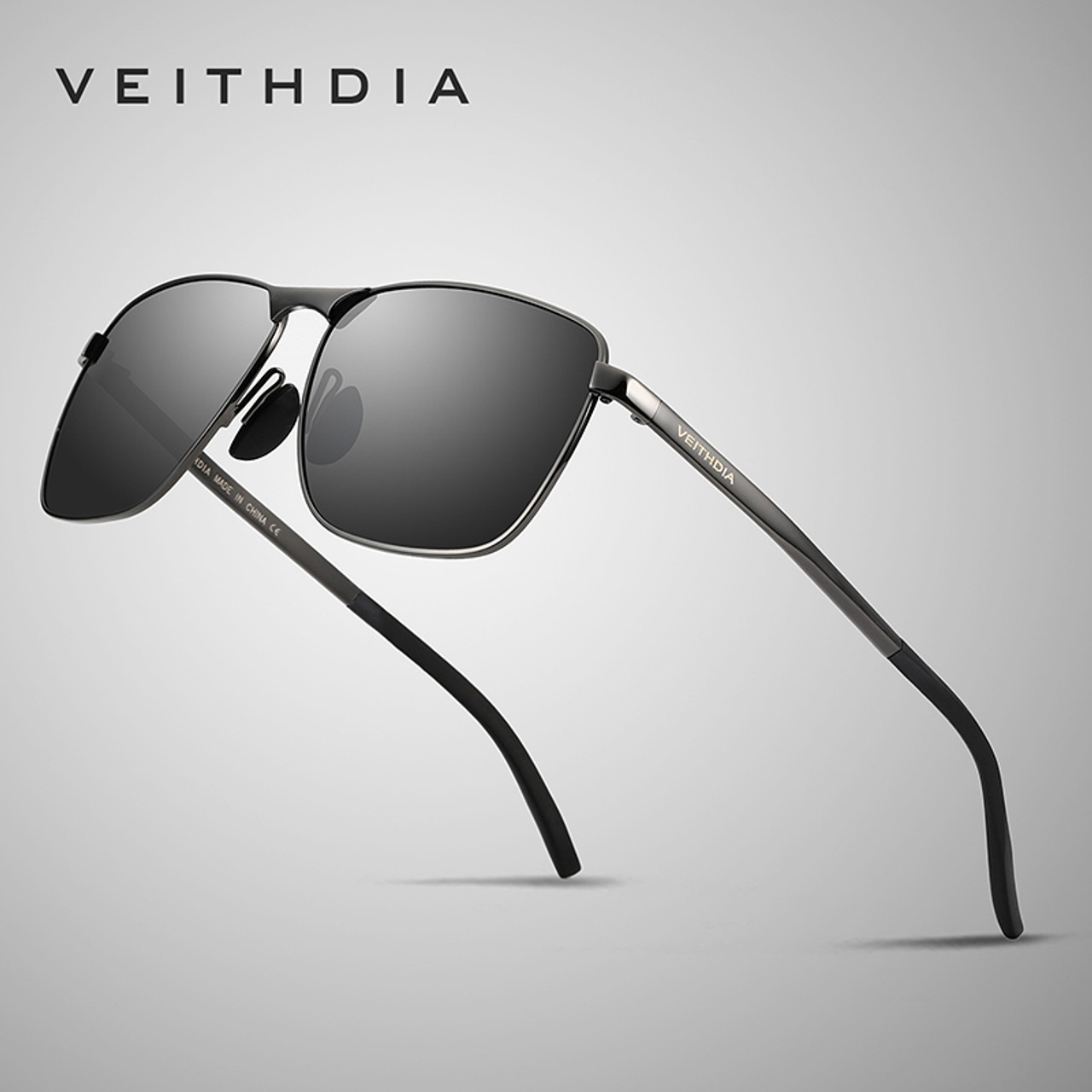 a6ed7a9183d Veithdia 2018 Brand Designer Fashion Square Sunglasses Mens Polarized  Coating Mirror Sun Glasses Eyewear Accessorie For ...