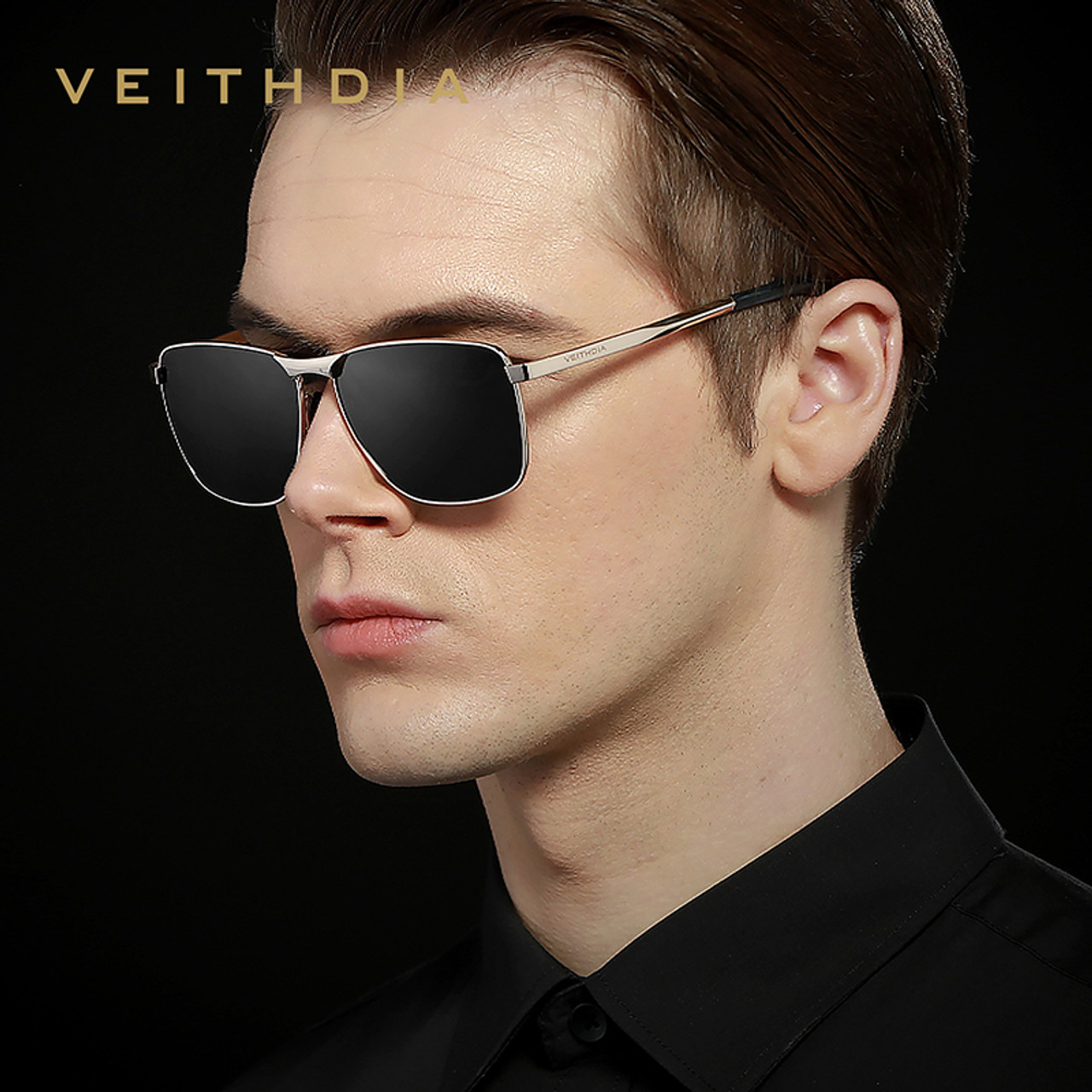 47076c3964 ... Veithdia 2018 Brand Designer Fashion Square Sunglasses Mens Polarized  Coating Mirror Sun Glasses Eyewear Accessorie For ...