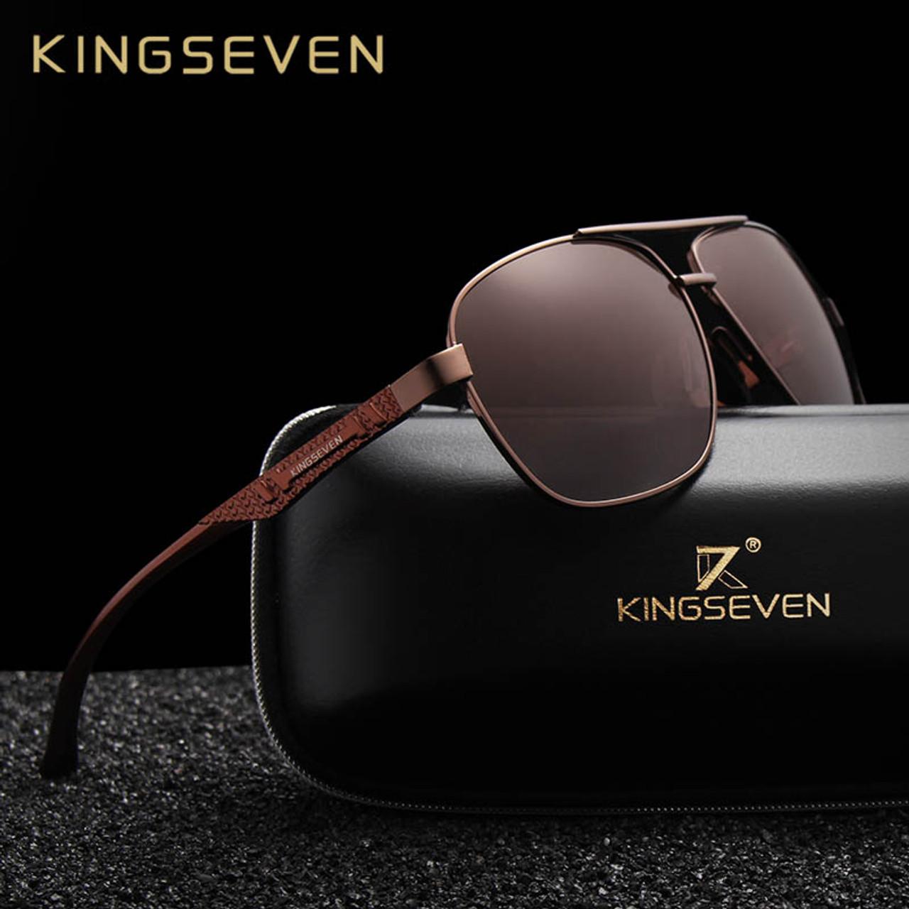 9a3a6ba622805 KINGSEVEN 2018 Brand Men Aluminum Sunglasses HD Polarized UV400 Mirror Male  Sun Glasses Women For Men Oculos de sol - OnshopDeals.Com
