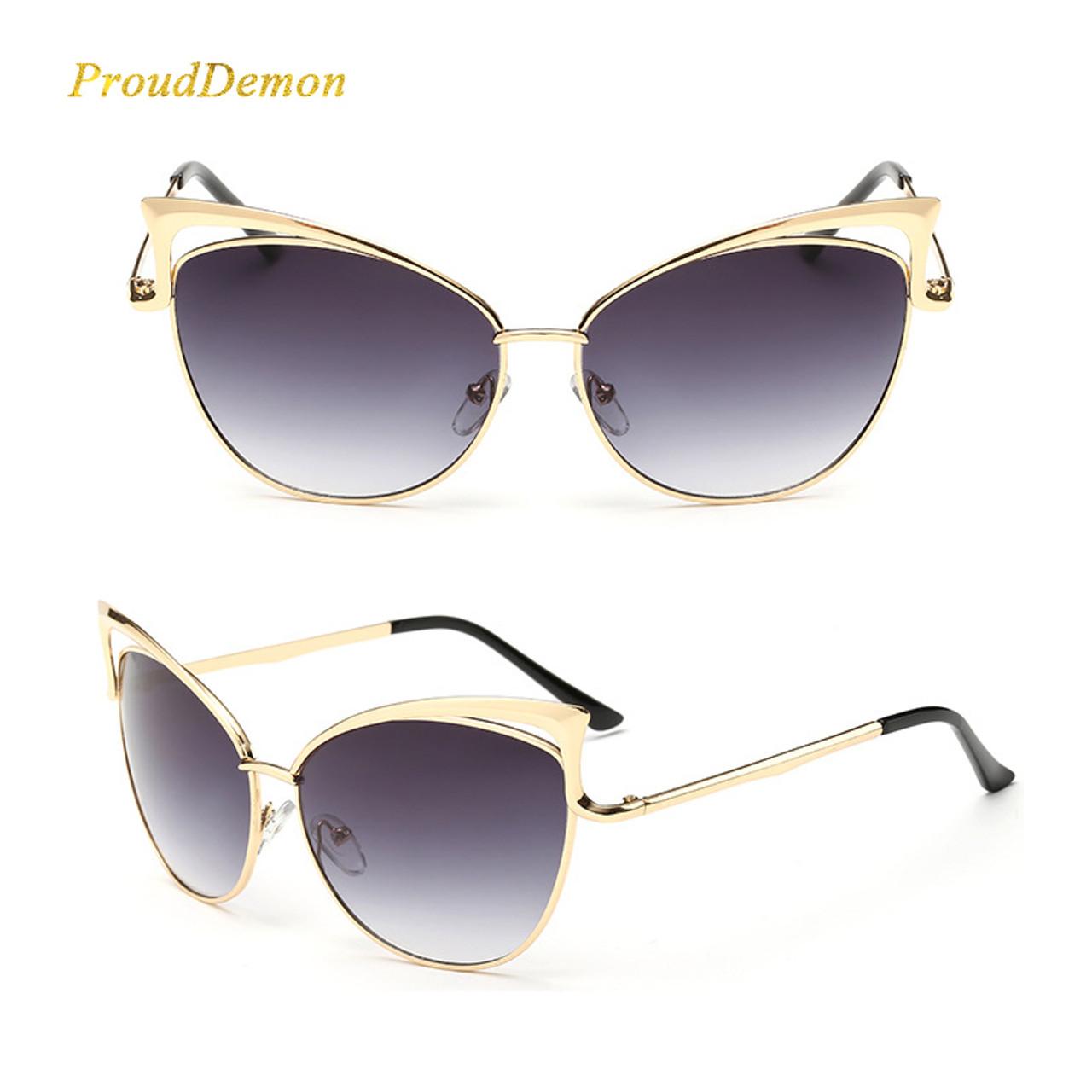 0e69f7fb5 ... New Fashion Cat Eye luxury 2018 Sunglasses Women Brand Designer  Twin-Beam Mirror Men Sun ...