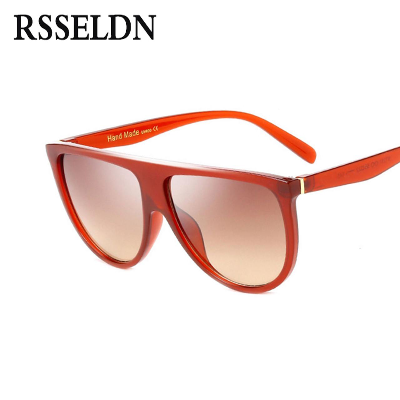 58f5ad767fc6 ... RSSELDN New Black Clear Oversized Square Sunglasses Women Gradient 2018  Summer Style Classic Women Sun glasses ...