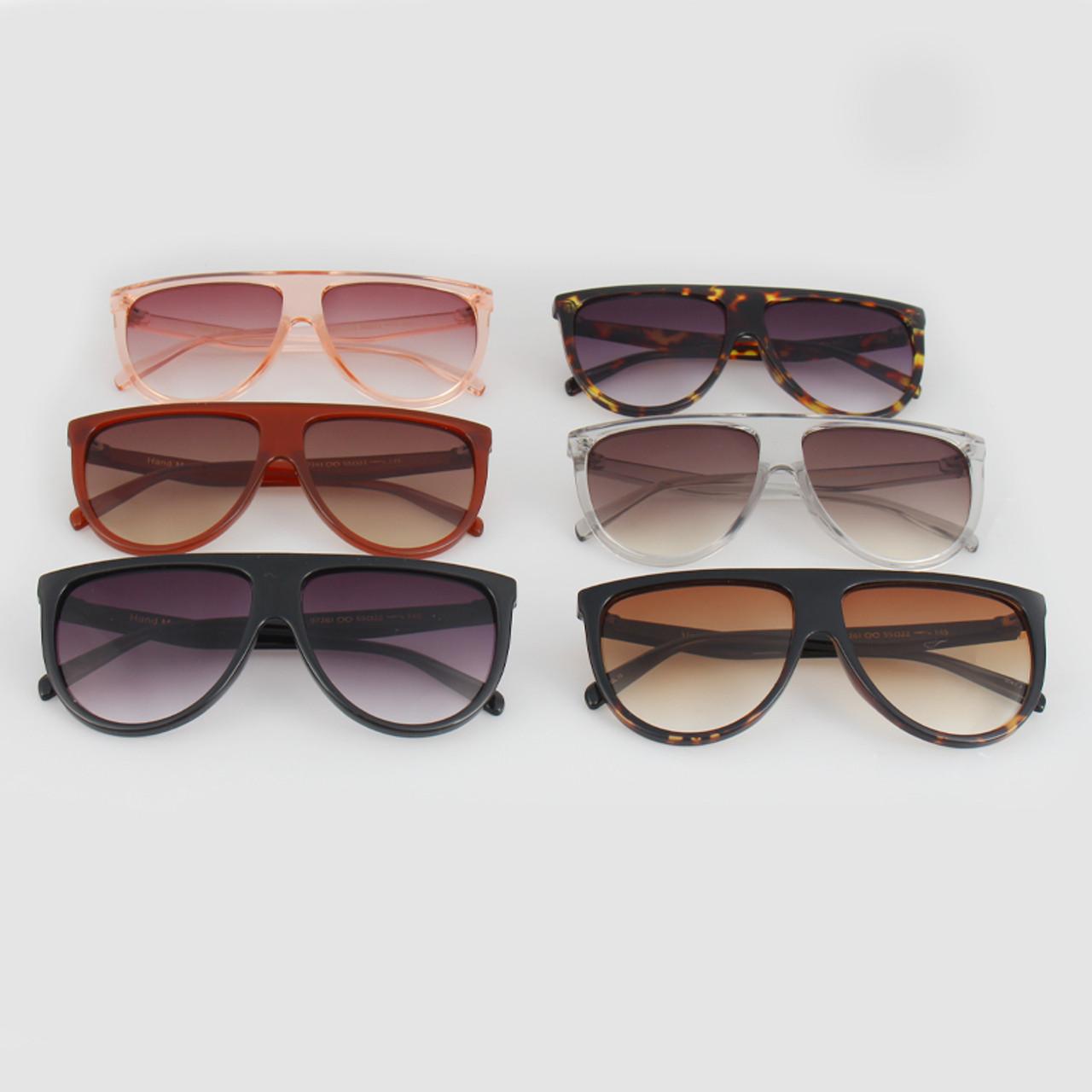 0099e58738 ... RSSELDN New Black Clear Oversized Square Sunglasses Women Gradient 2018  Summer Style Classic Women Sun glasses ...