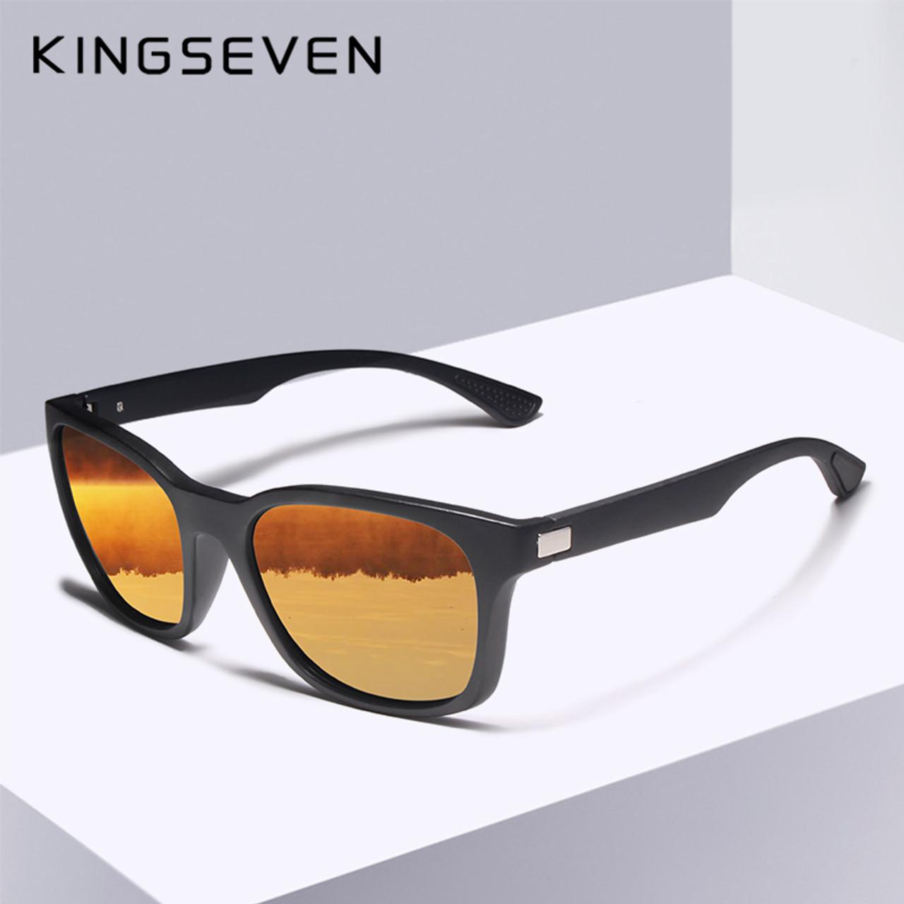 1ecdaea97341 KINGSEVEN 2018 Classic Fashion Polarized Black Sunglasses Men Eyewear For  Driving Fishing Square Sun Glasses ...