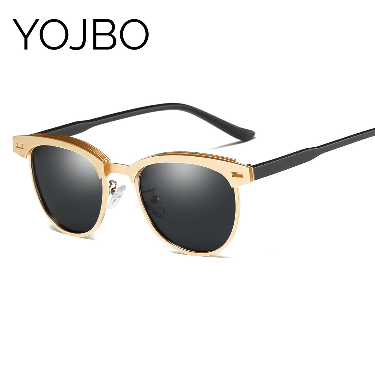 34b61f6c162 ... YOJBO Aviator Sunglasses Men Polarized 2018 Male Ladies Retro Mirror  Women Vintage Shades Luxury Brand Designe ...