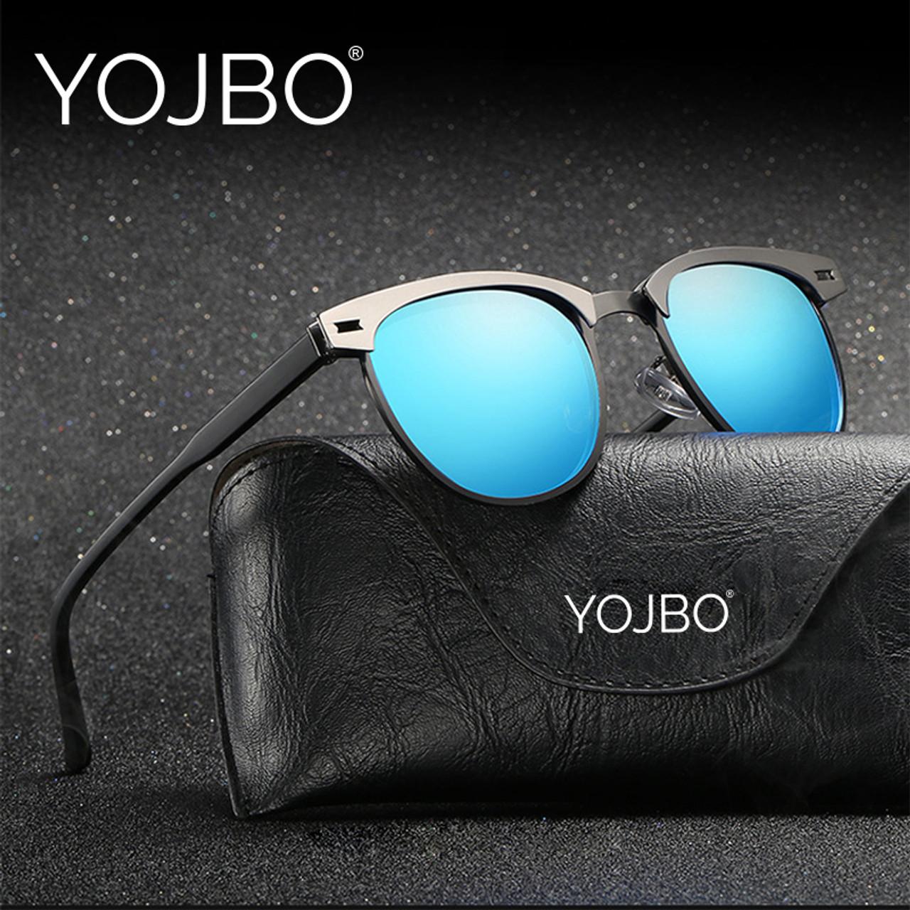 1c8132b9e6a ... YOJBO Aviator Sunglasses Men Polarized 2018 Male Ladies Retro Mirror Women  Vintage Shades Luxury Brand Designe ...